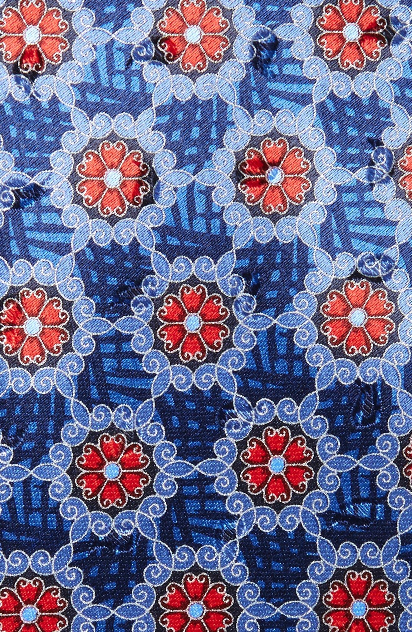 Medallion Silk Tie,                             Alternate thumbnail 2, color,                             418