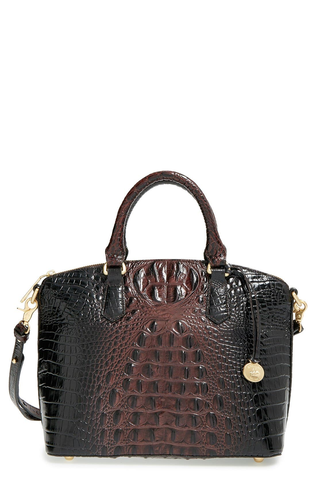 'Medium Duxbury' Croc Embossed Leather Satchel,                             Main thumbnail 13, color,