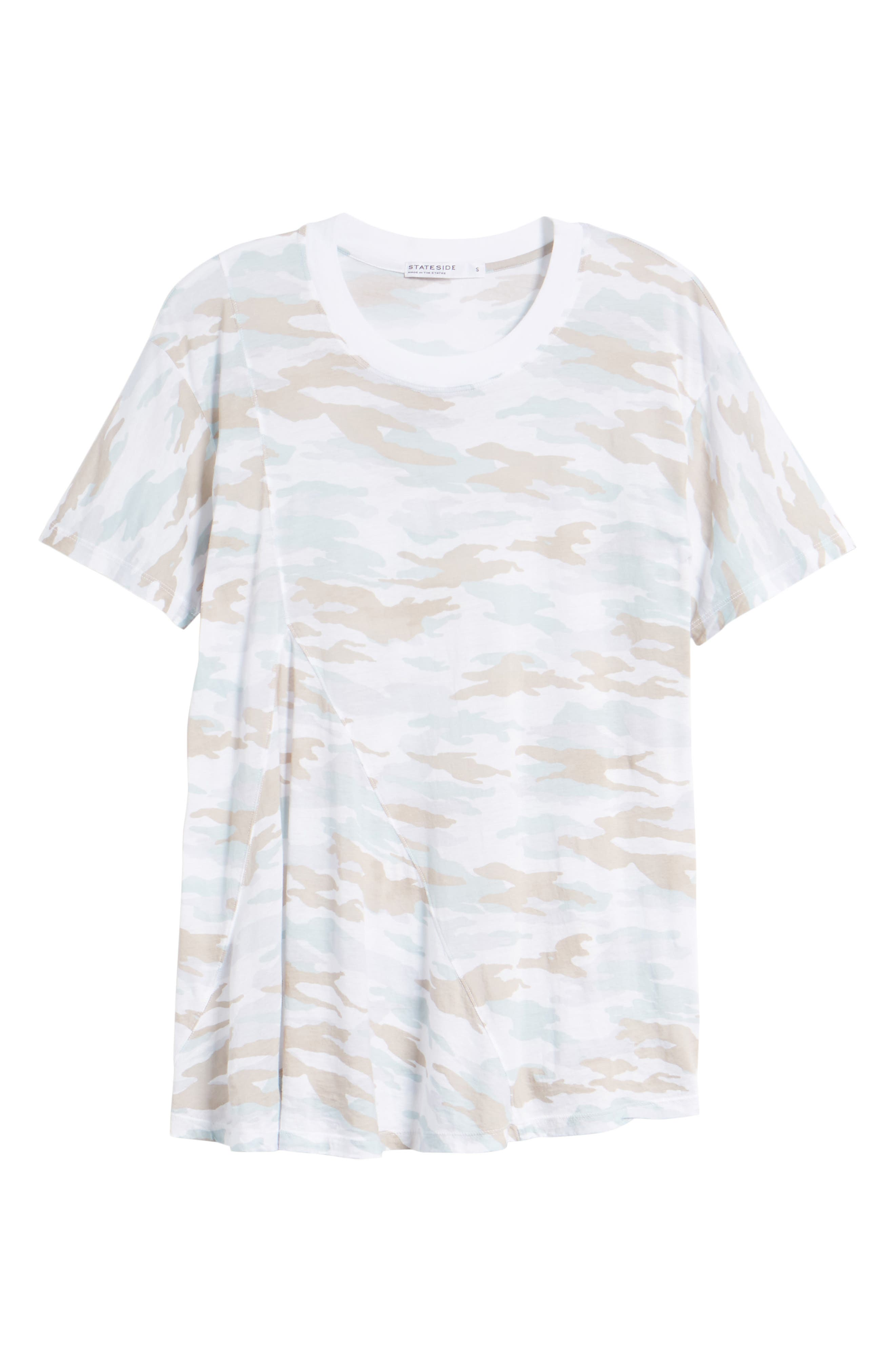 Camo Swing Tee,                             Alternate thumbnail 7, color,                             100
