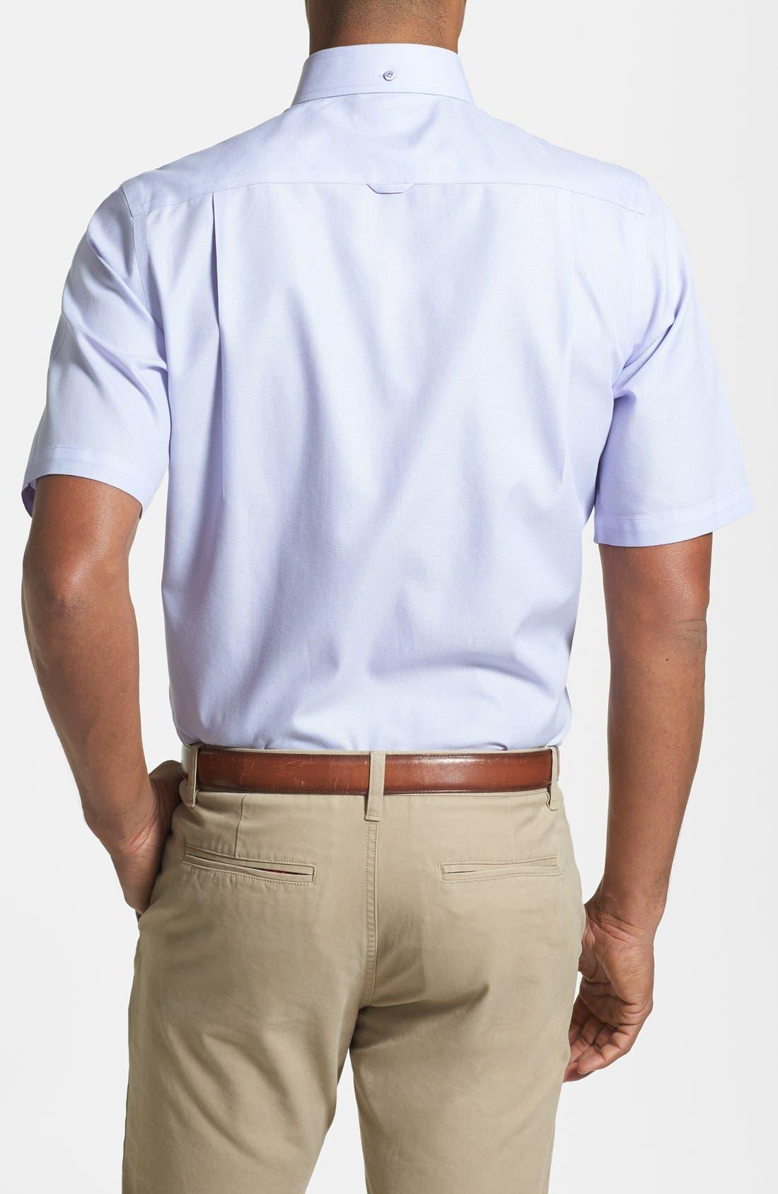 'Classic' Smartcare<sup>™</sup> Regular Fit Short Sleeve Cotton Sport Shirt,                             Alternate thumbnail 40, color,
