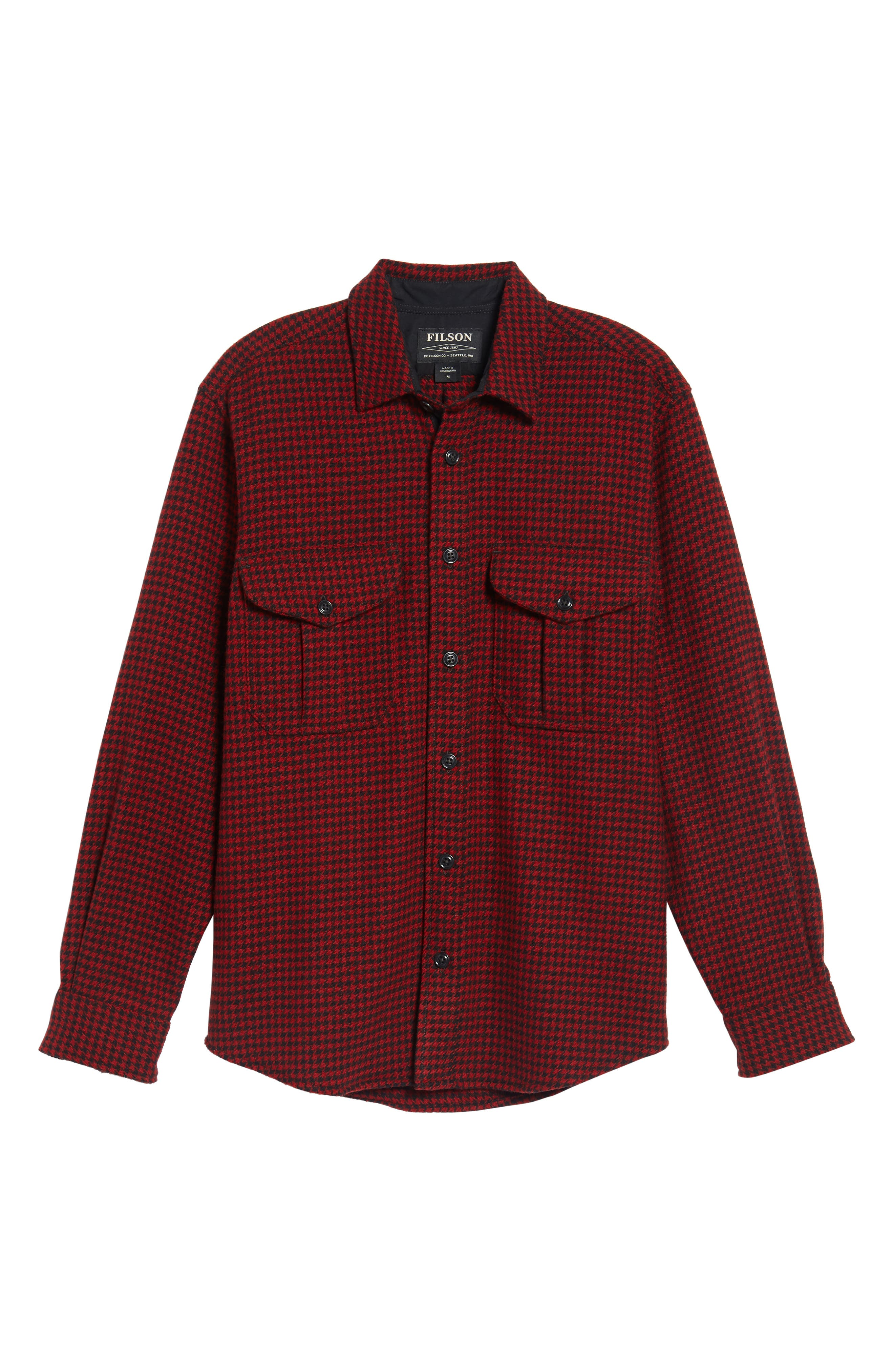 Northwest Houndstooth Shirt Jacket,                             Alternate thumbnail 6, color,                             645