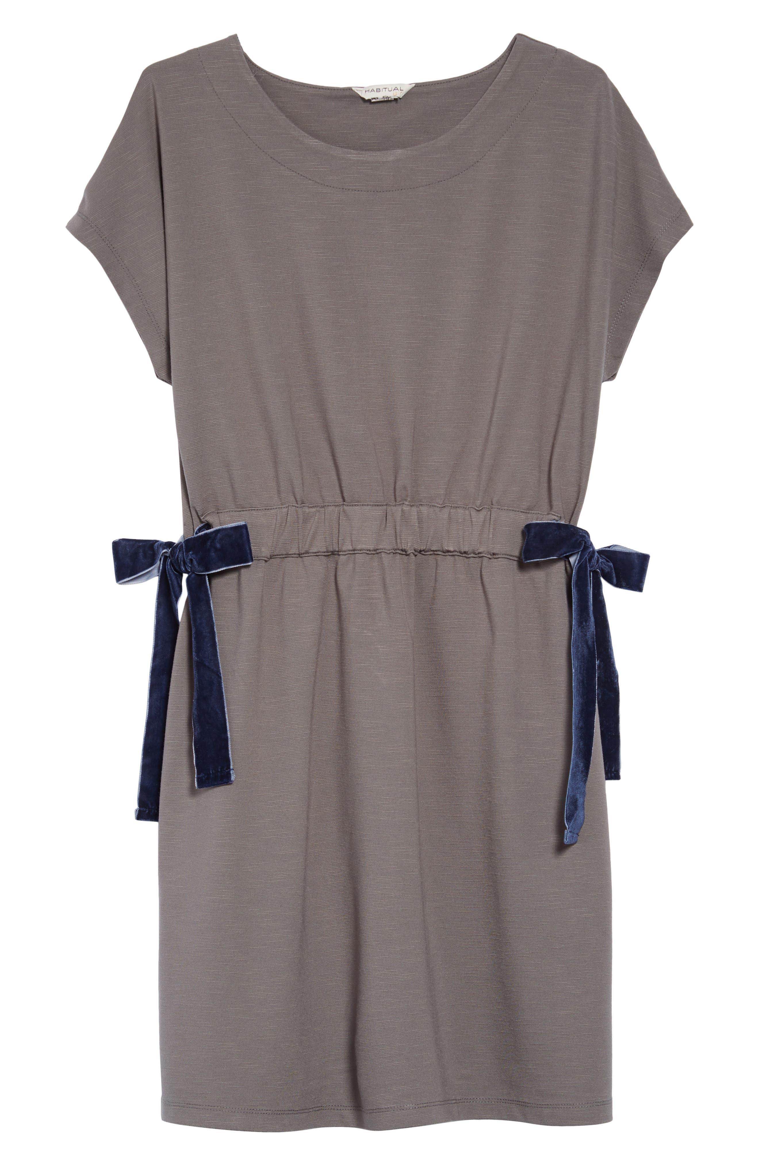 Violet Velvet Bow Dress,                         Main,                         color, OLIVE