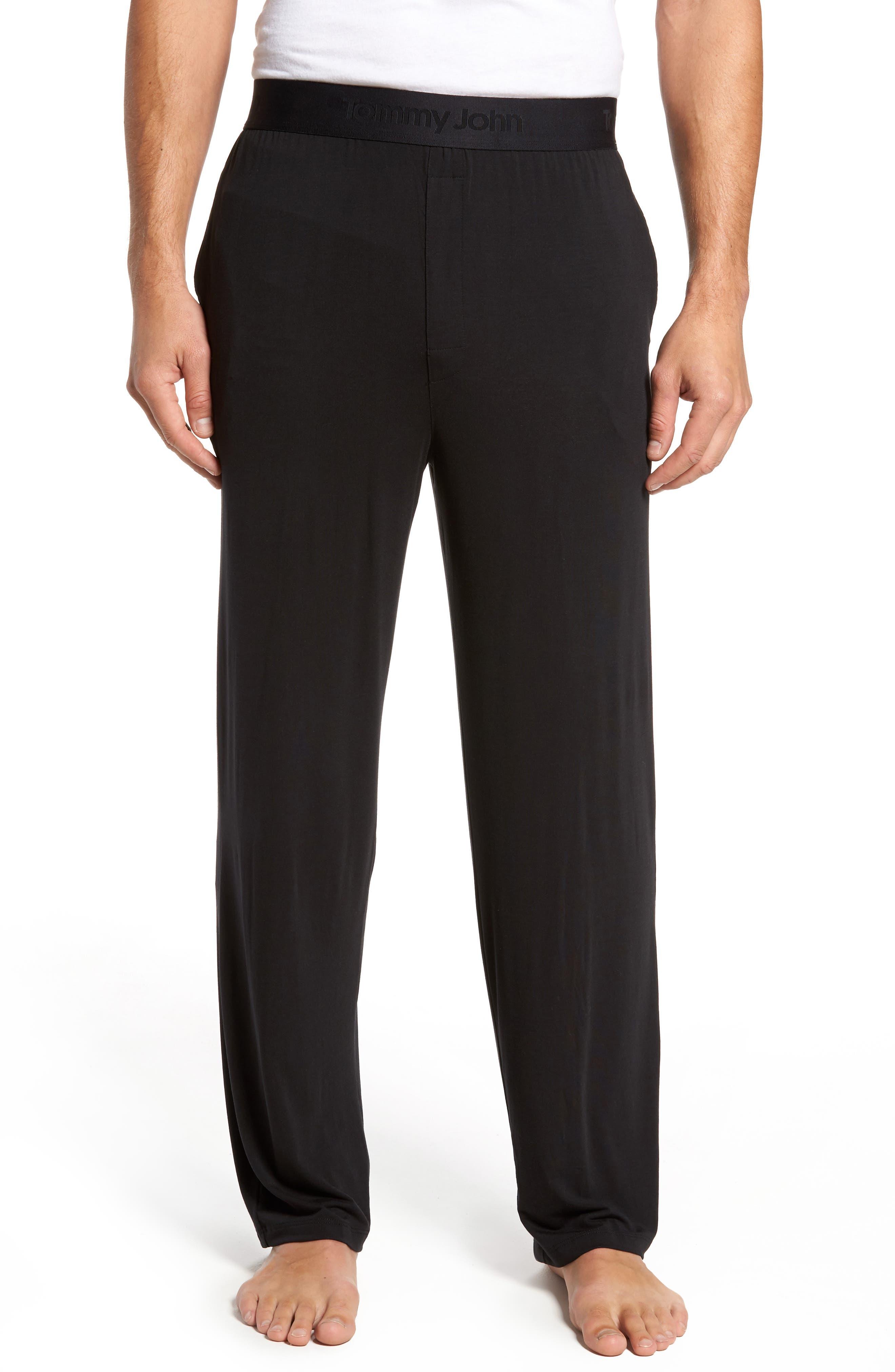 Second Skin Lounge Pants,                             Main thumbnail 1, color,                             BLACK