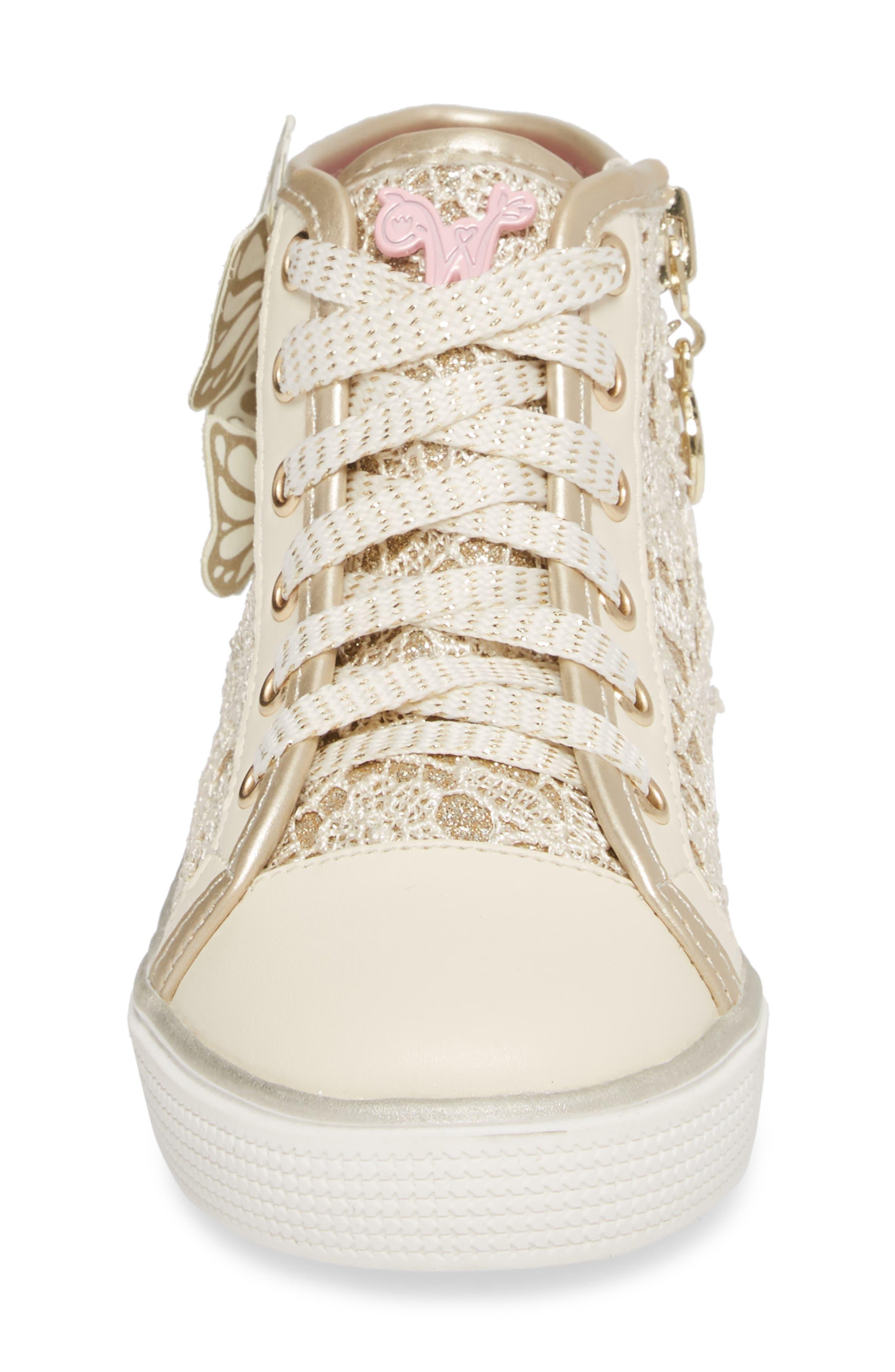 Ashlyn Glitter High Top Sneaker,                             Alternate thumbnail 4, color,                             710