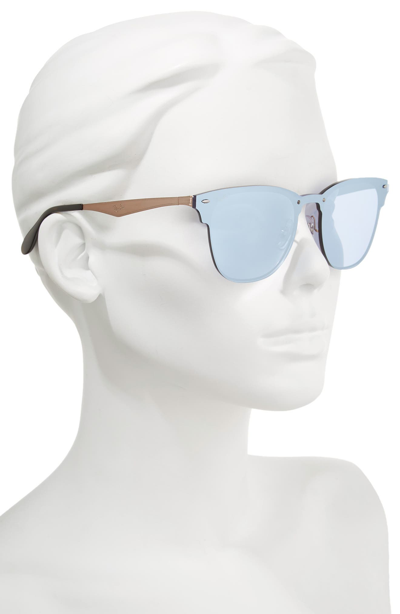 50mm Round Clubmaster Sunglasses,                             Alternate thumbnail 6, color,