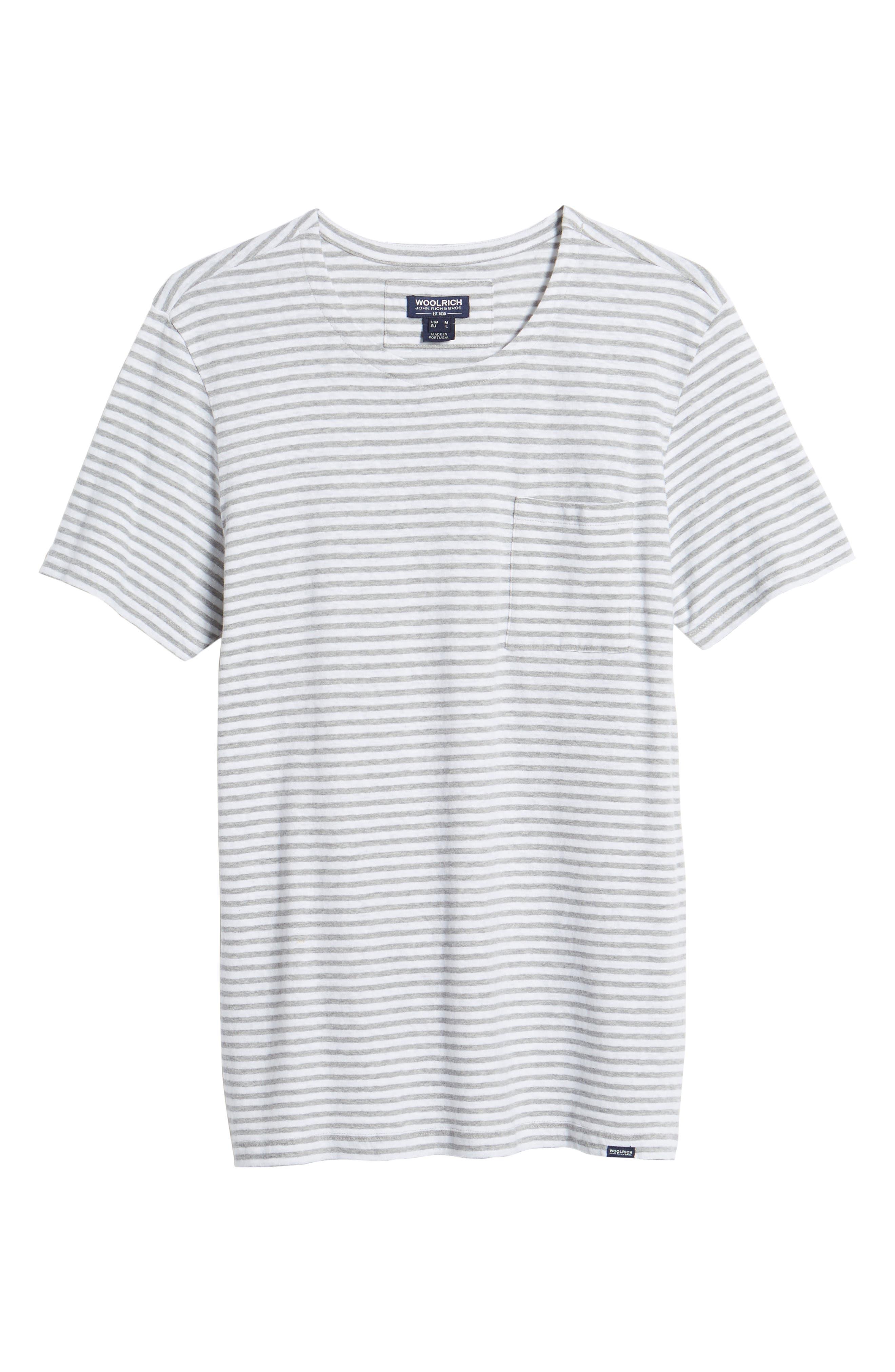 & Bros. Stripe Crewneck T-Shirt,                             Alternate thumbnail 6, color,                             156