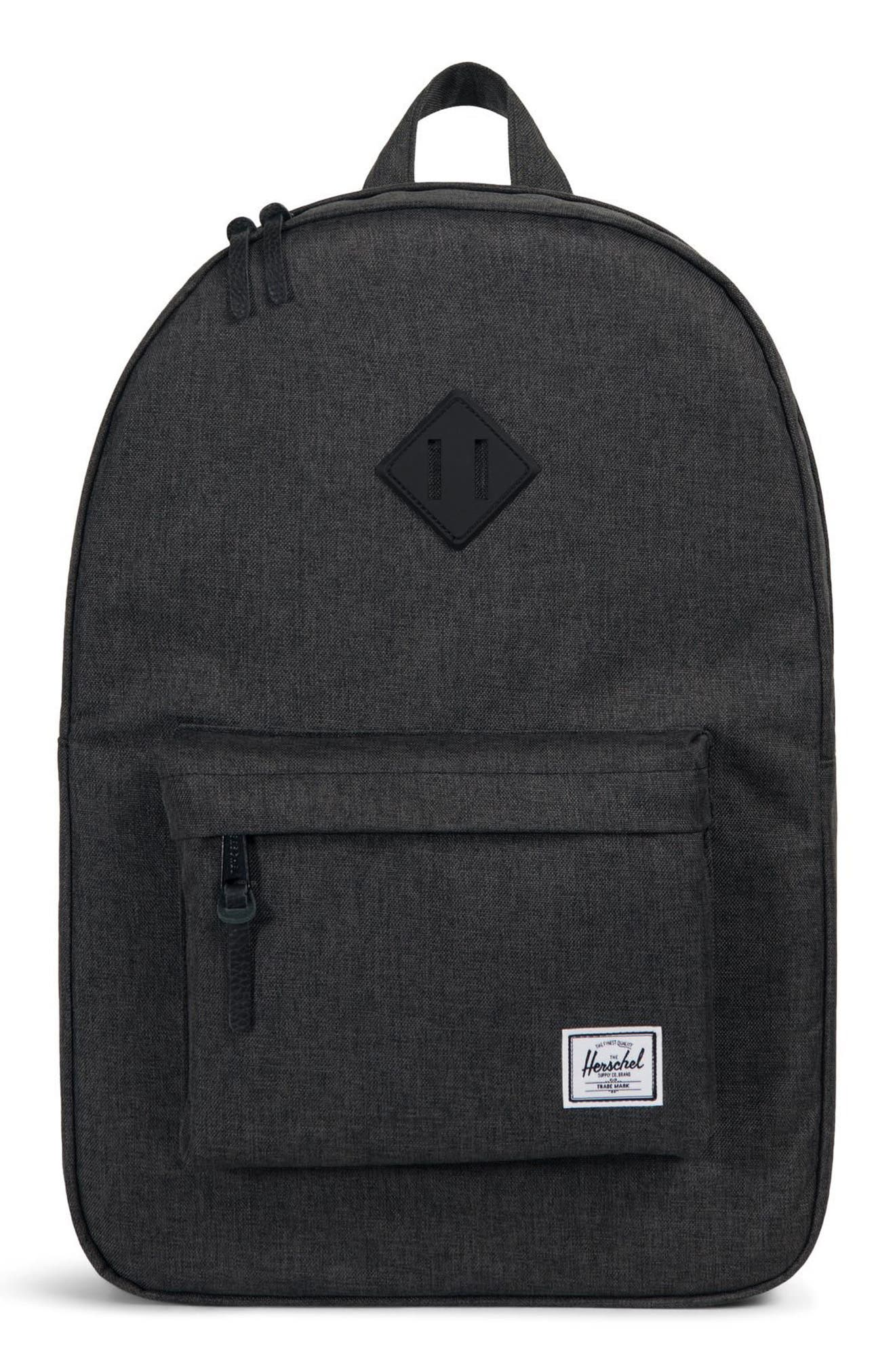 Heritage Backpack,                             Main thumbnail 1, color,                             BLACK CROSSHATCH