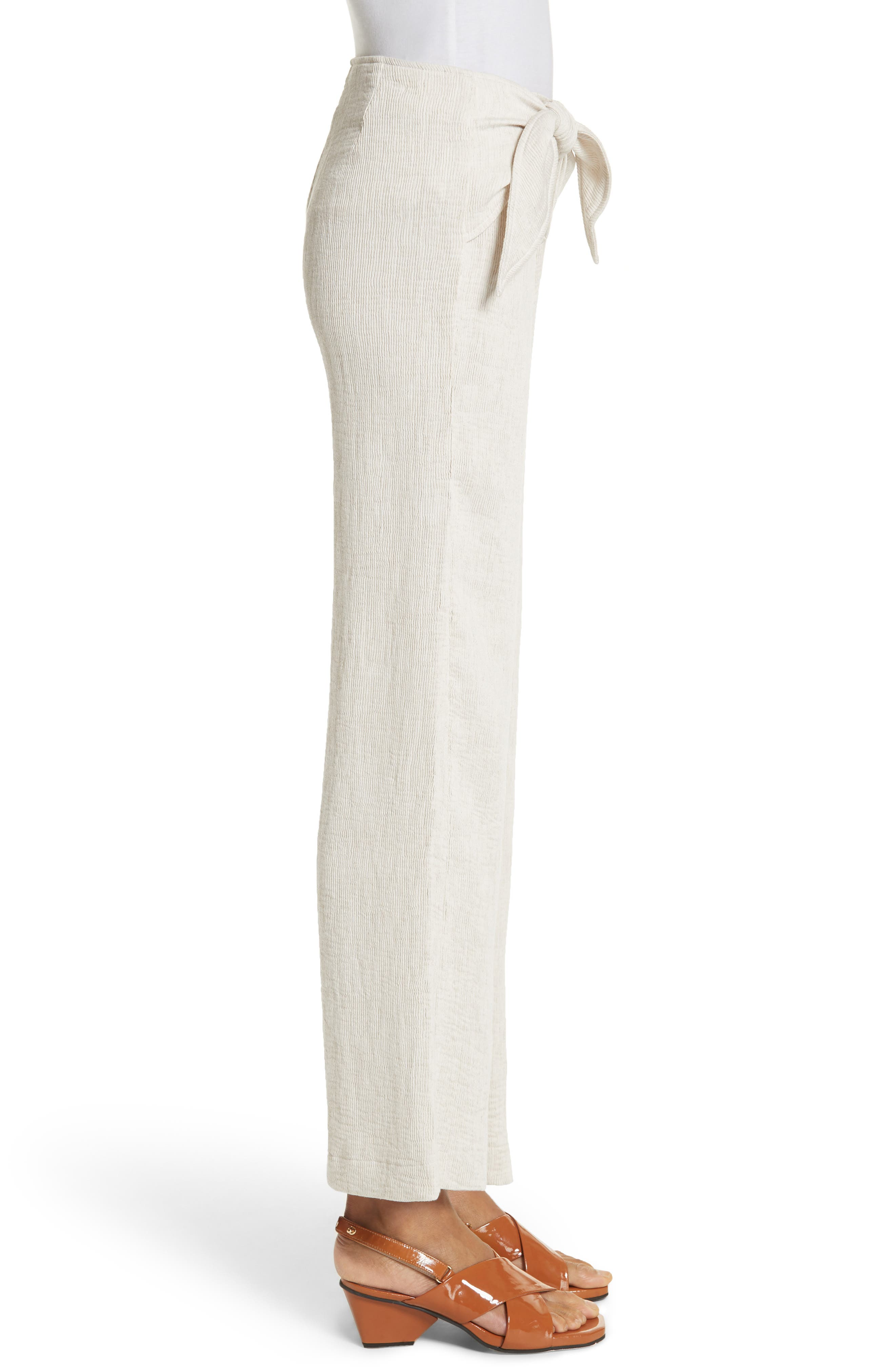 Hatton Drawstring Tie Front Pants,                             Alternate thumbnail 3, color,                             900
