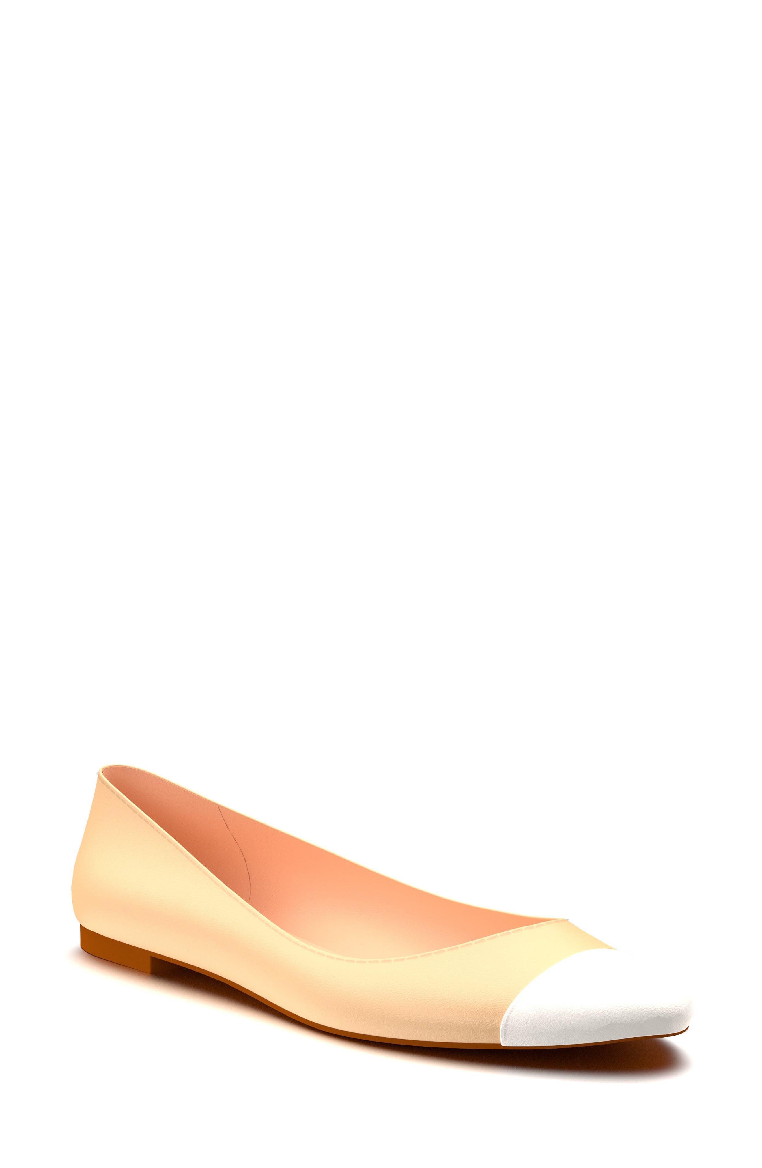 Cap Toe Ballet Flat,                             Main thumbnail 2, color,