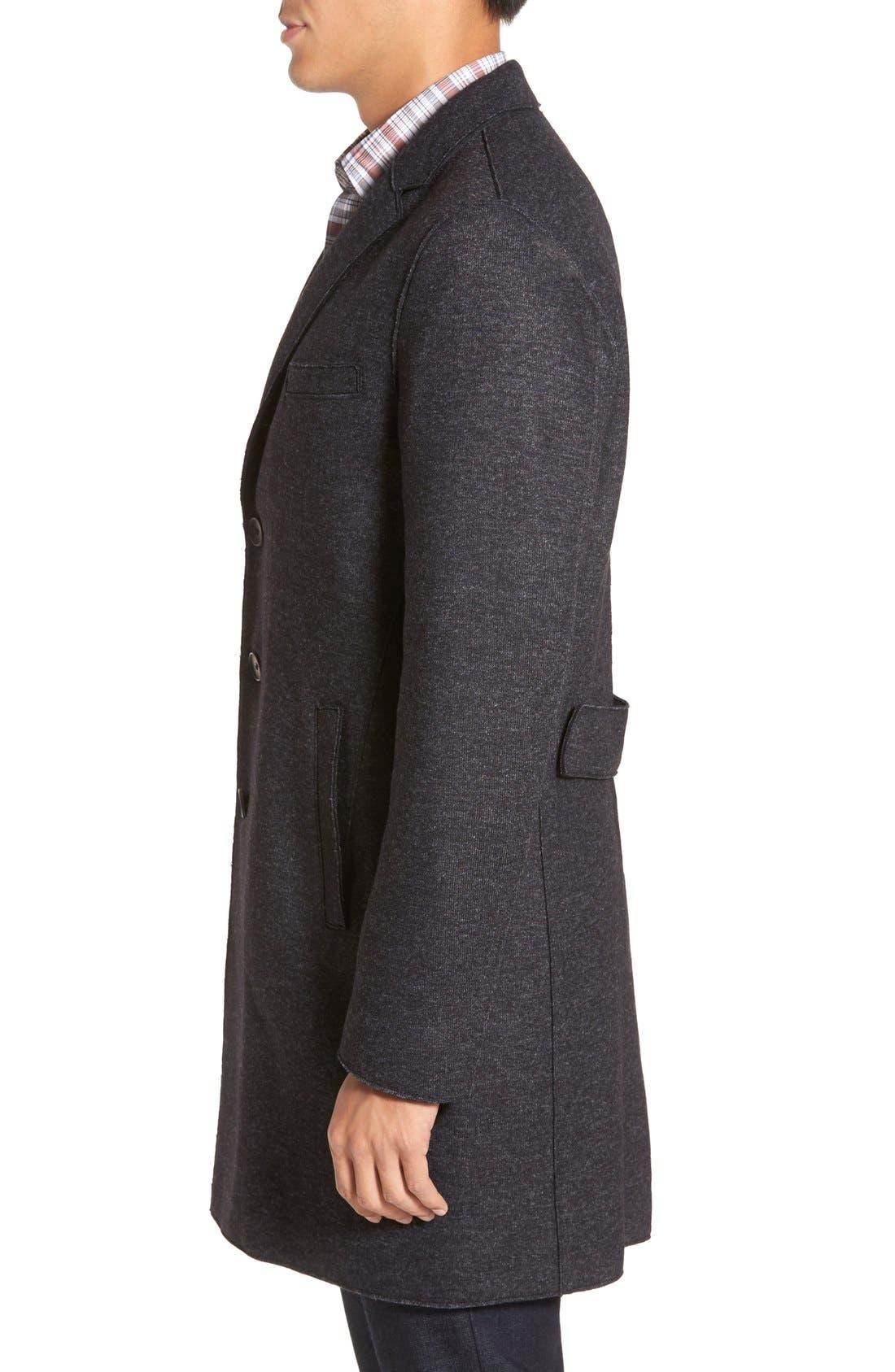 BOSS 'Shawn' Wool Blend Overcoat,                             Alternate thumbnail 3, color,                             402