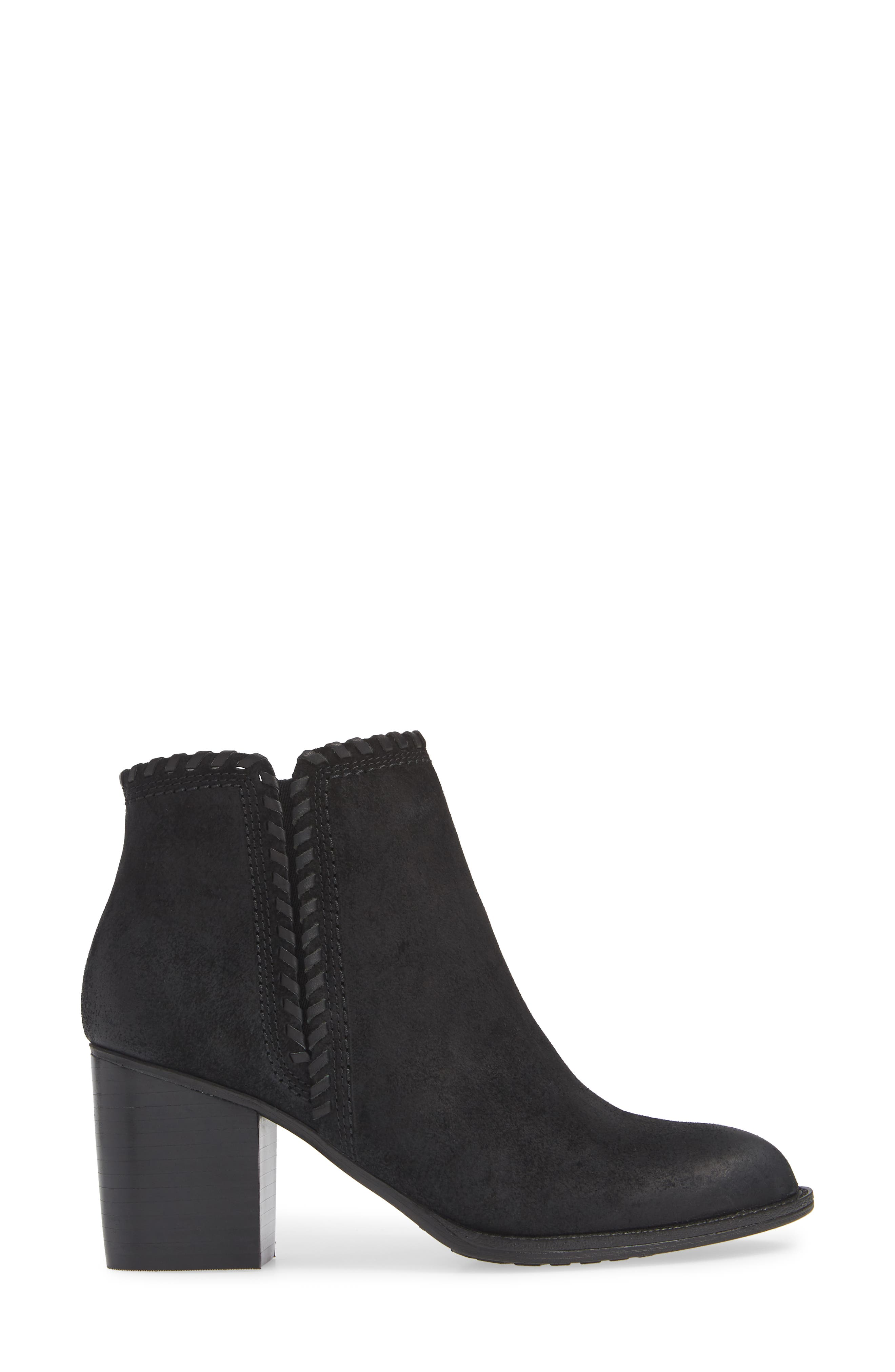 Wilton Bootie,                             Alternate thumbnail 3, color,                             BLACK SUEDE