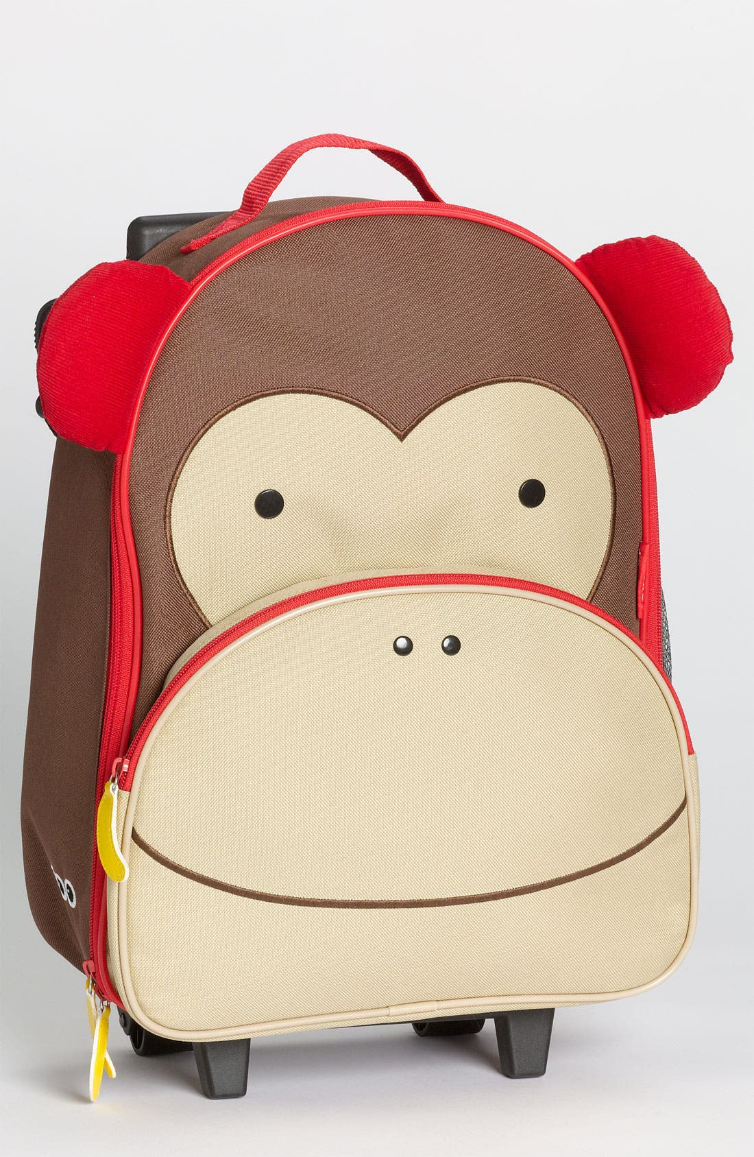 Monkey Rolling Luggage, Main, color, BROWN
