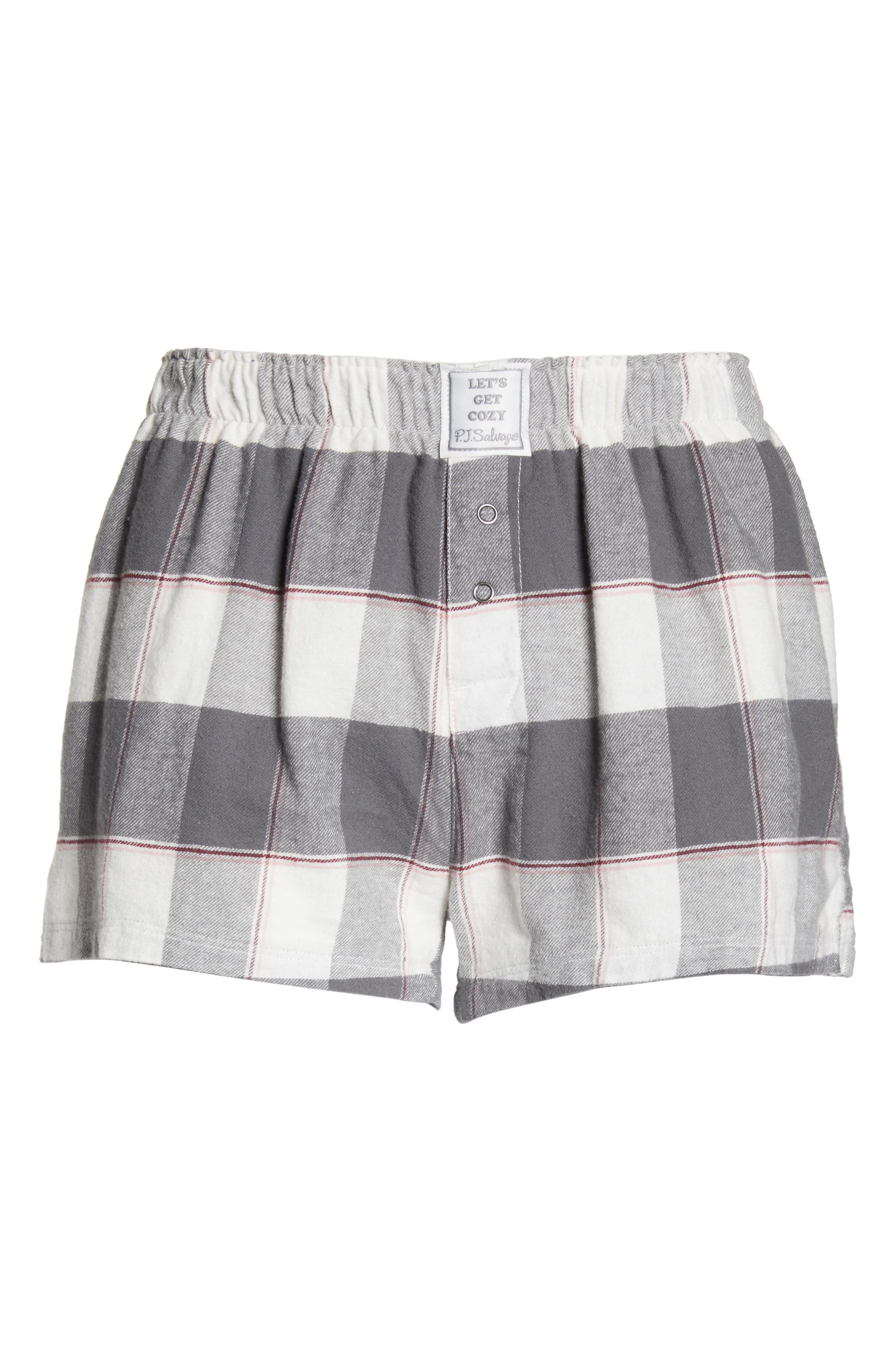 PJ SALVAGE,                             Cozy Time Shorts,                             Alternate thumbnail 6, color,                             028