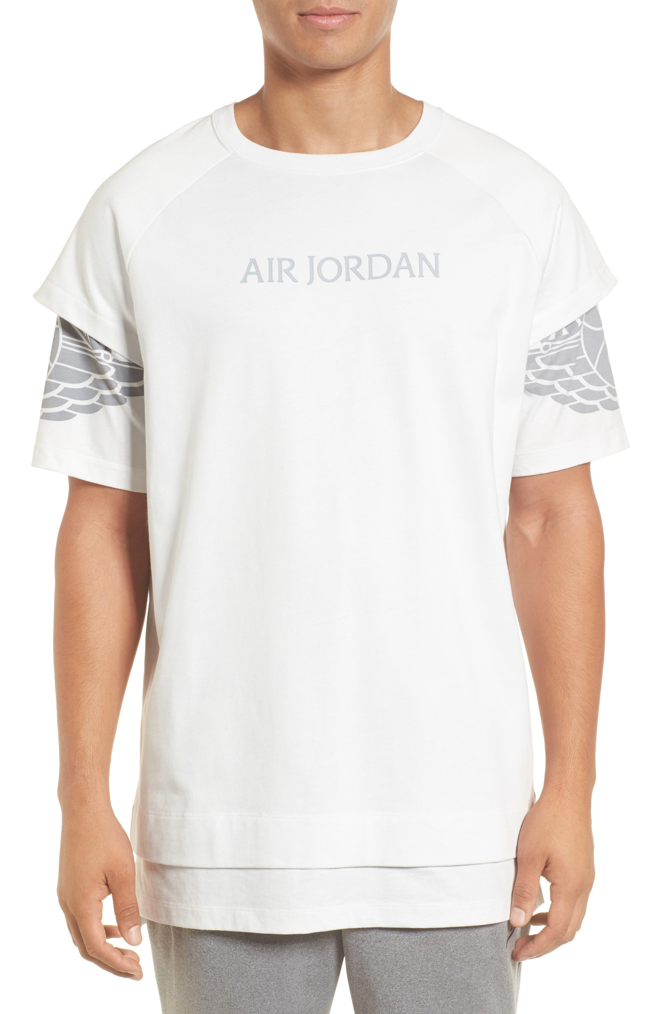 Sportswear Dry Modern Logo T-Shirt,                             Main thumbnail 1, color,                             SUMMIT WHITE