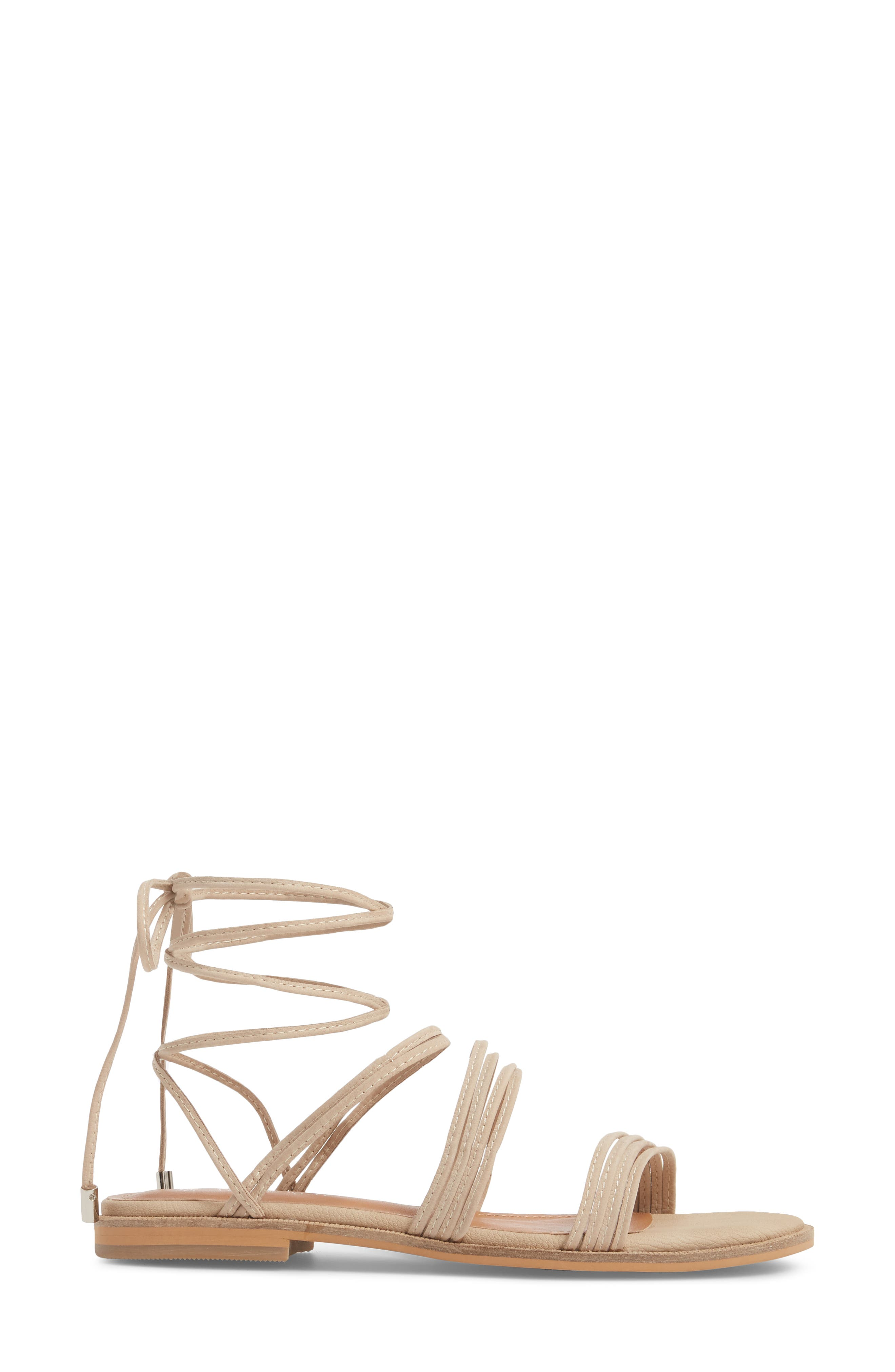 Theory Strappy Flat Sandal,                             Alternate thumbnail 8, color,