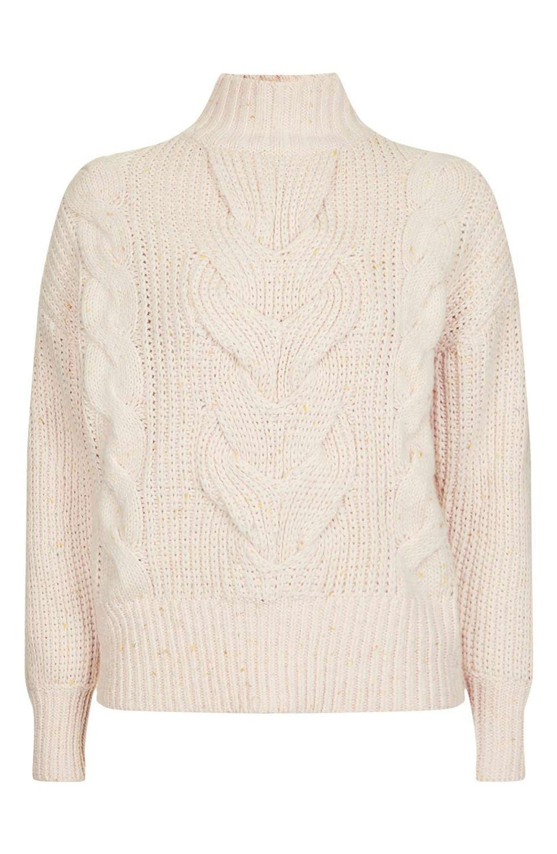 Cable Knit Sweater,                             Alternate thumbnail 3, color,                             250