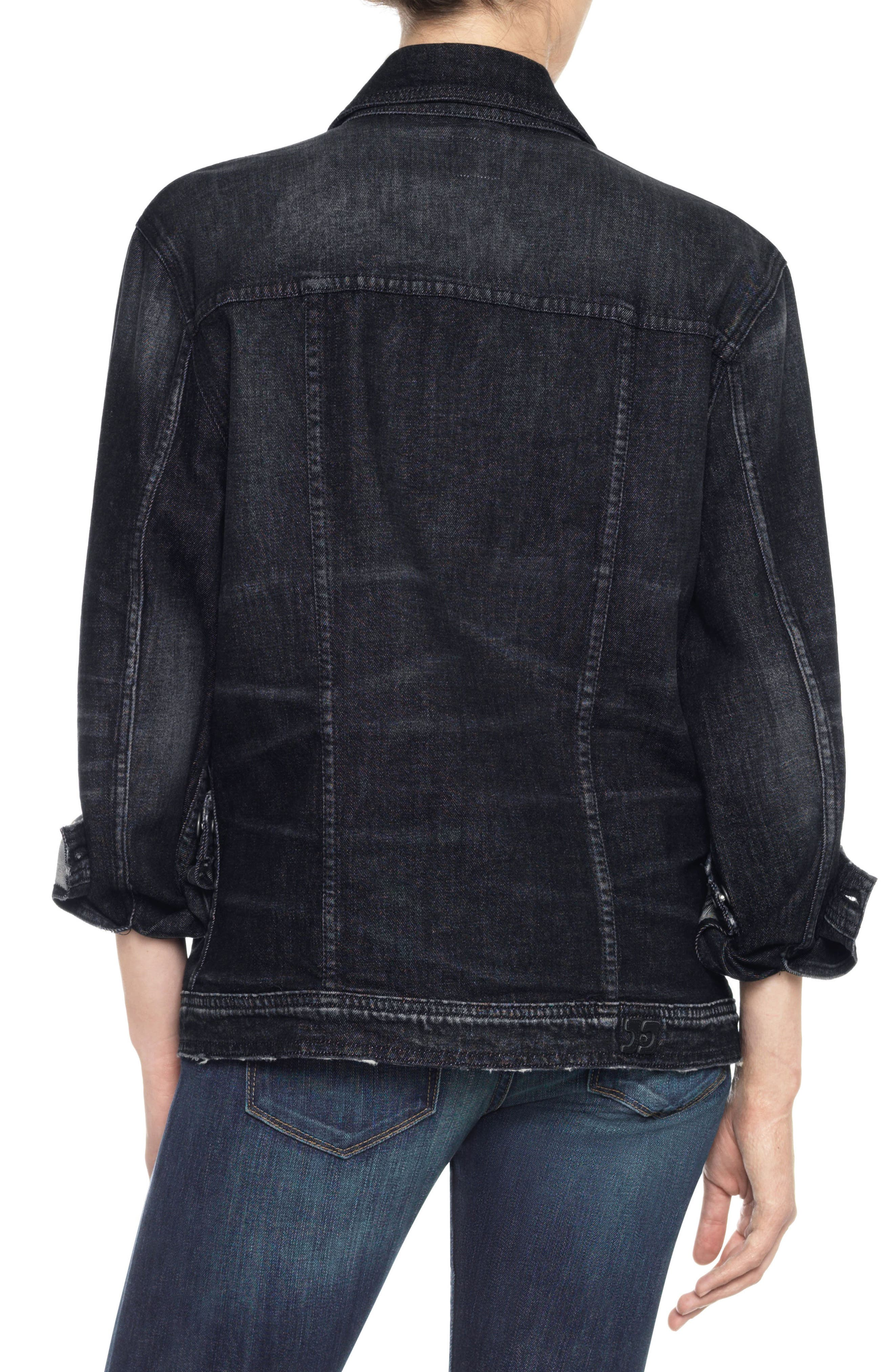 Classics Boyfriend Denim Jacket,                             Alternate thumbnail 2, color,