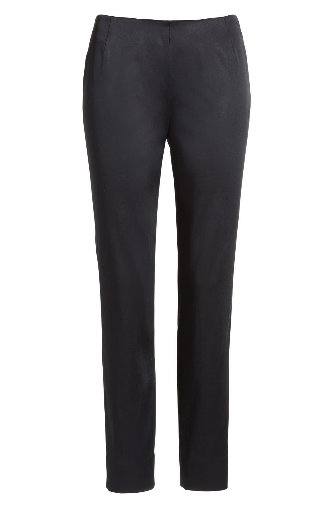 'Stanton - Belle Satin' Pants,                             Alternate thumbnail 7, color,                             BLACK