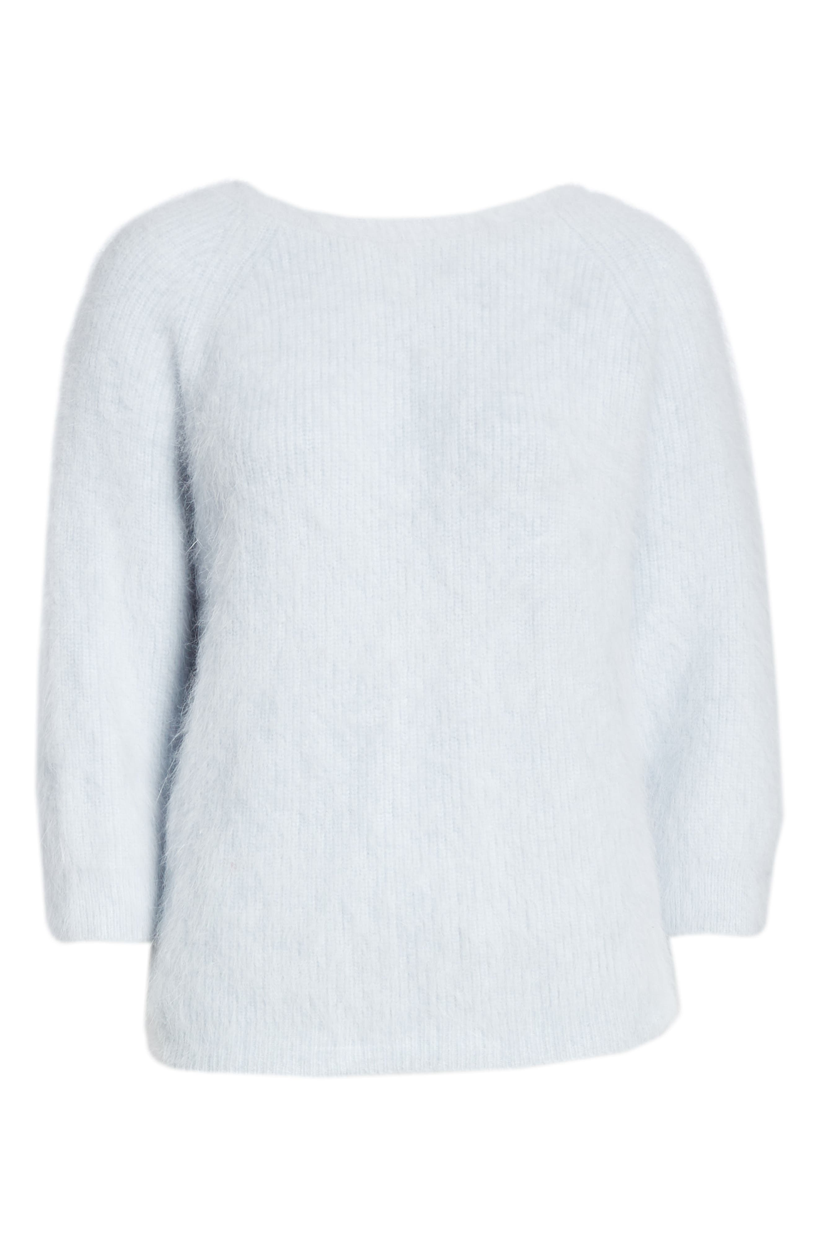 Barmy Twist Back Angora Blend Sweater,                             Alternate thumbnail 6, color,                             400