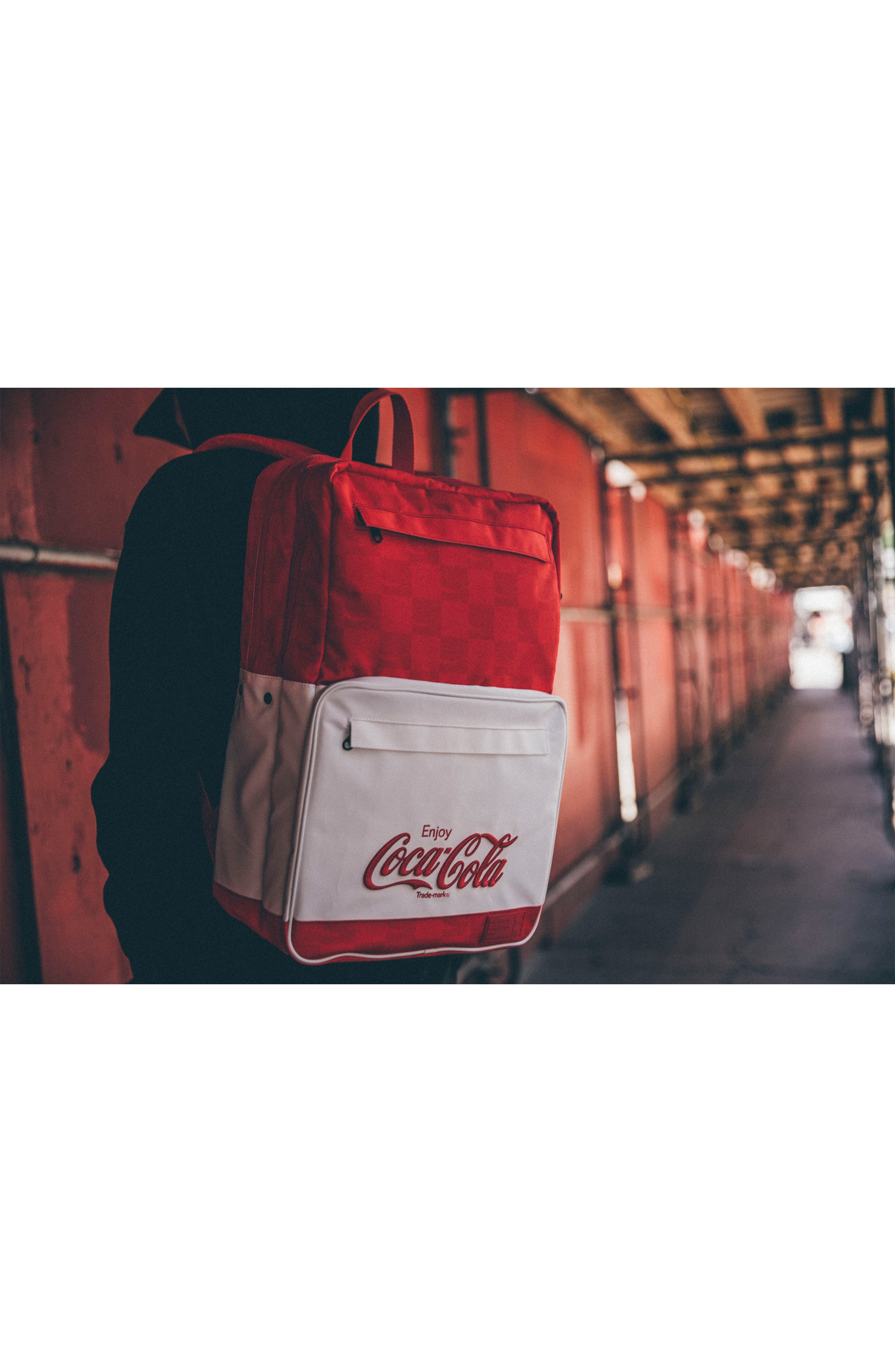 Coca Cola Sneaker Backpack,                             Alternate thumbnail 6, color,