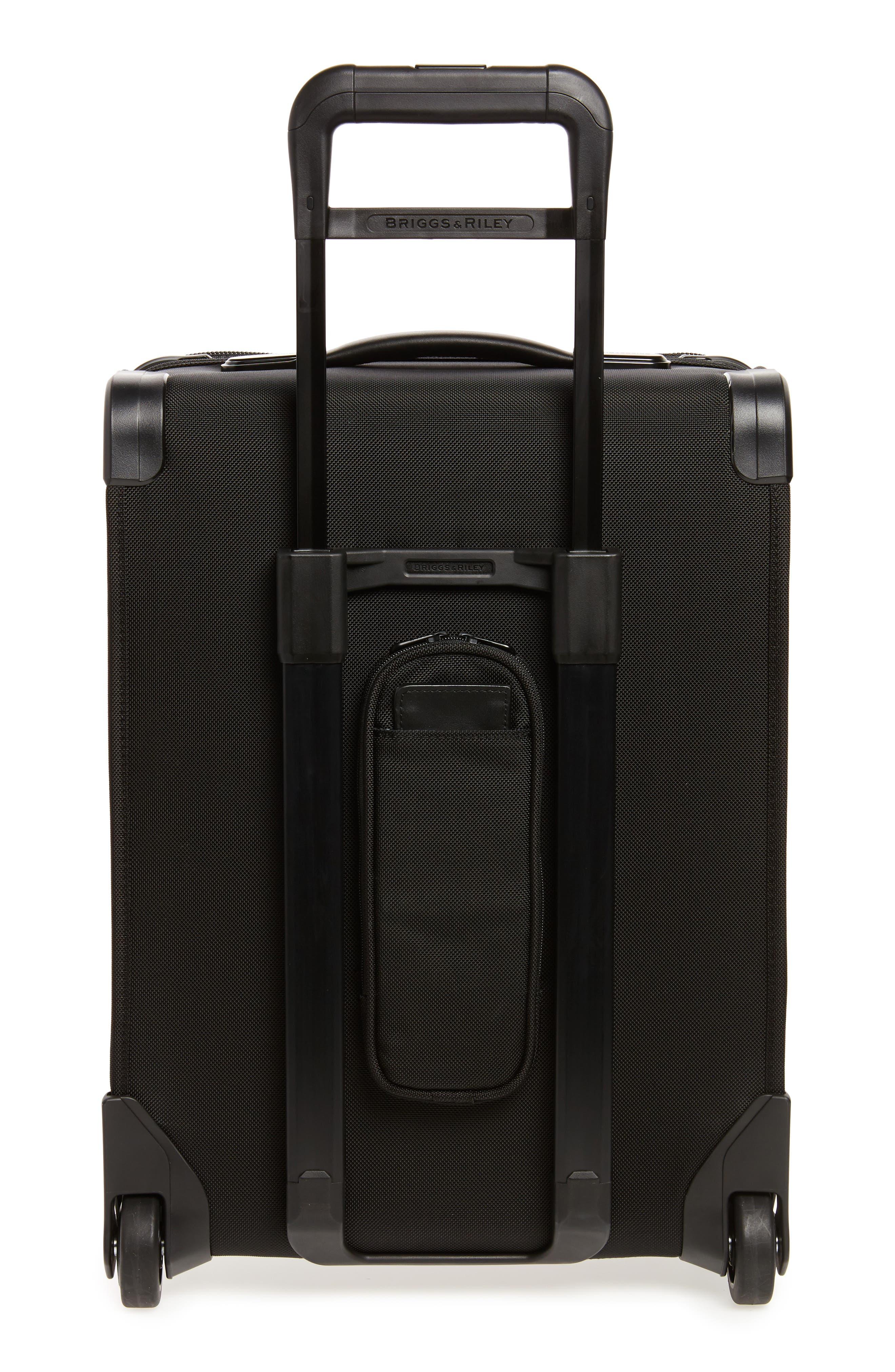 Baseline International 22-Inch Expandable Rolling Carry-On,                             Alternate thumbnail 4, color,                             BLACK