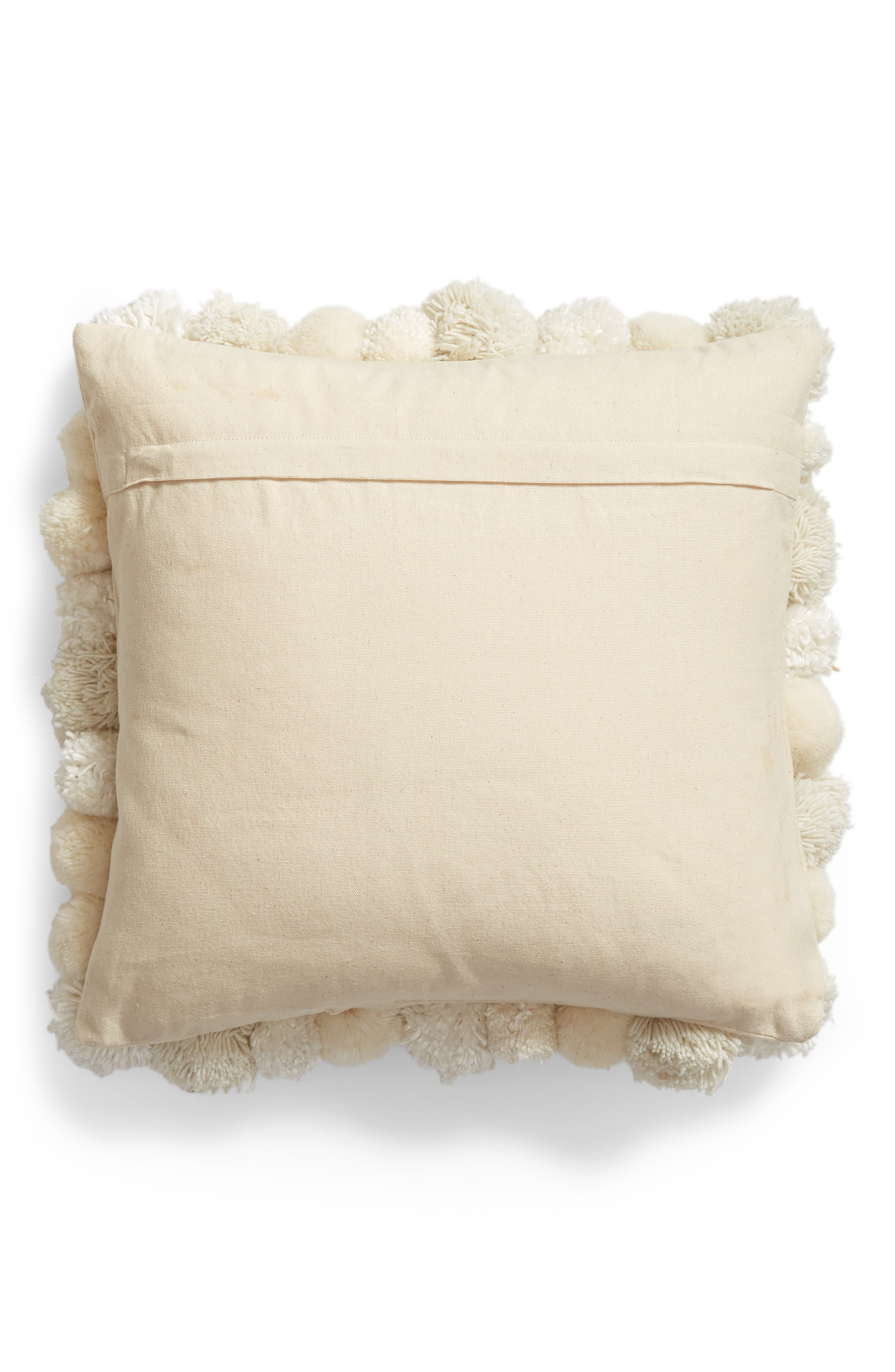 Pom Accent Pillow,                             Alternate thumbnail 2, color,                             IVORY