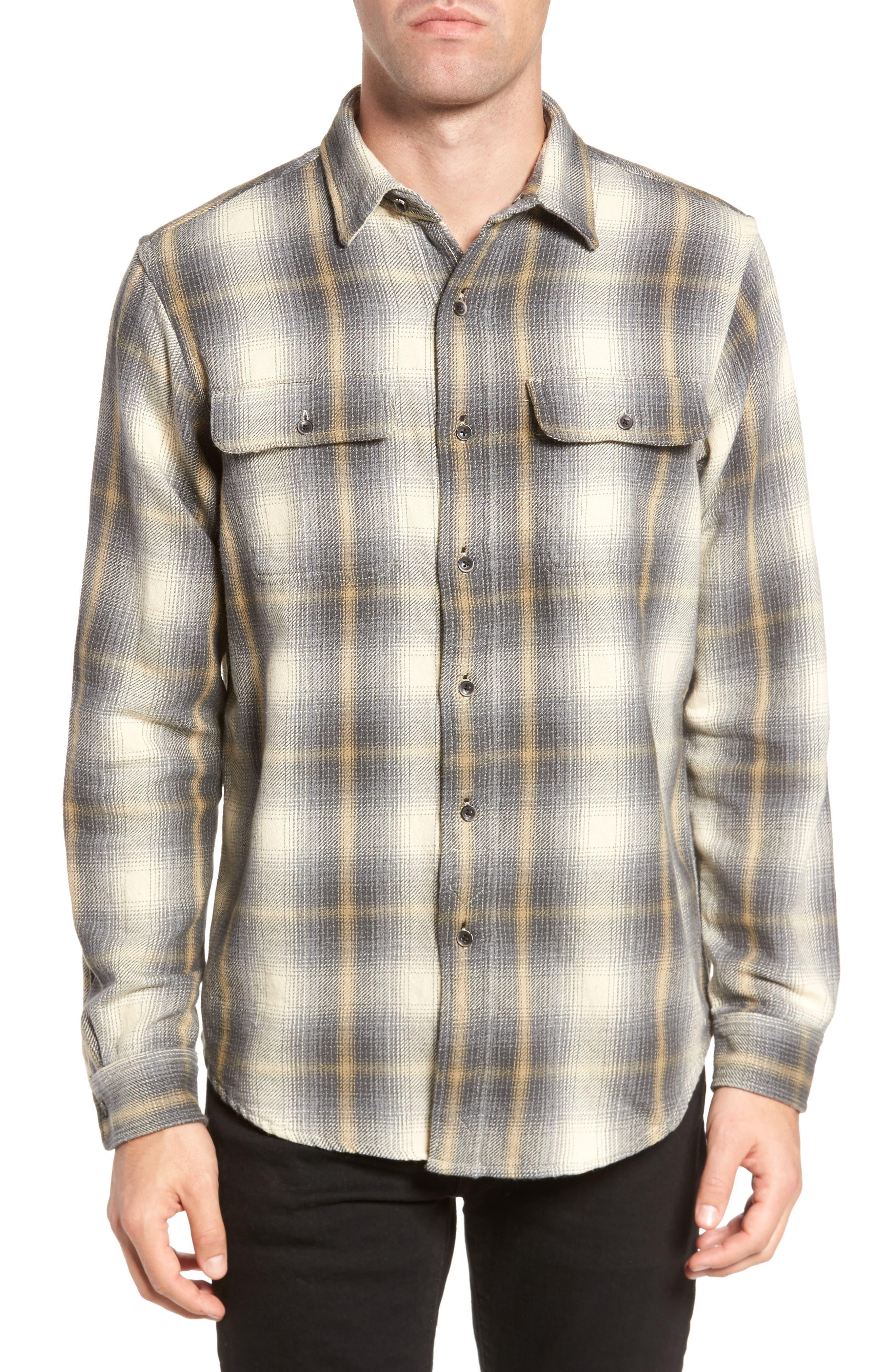 Heavy Twill Reversible Shirt Jacket,                         Main,                         color, 101