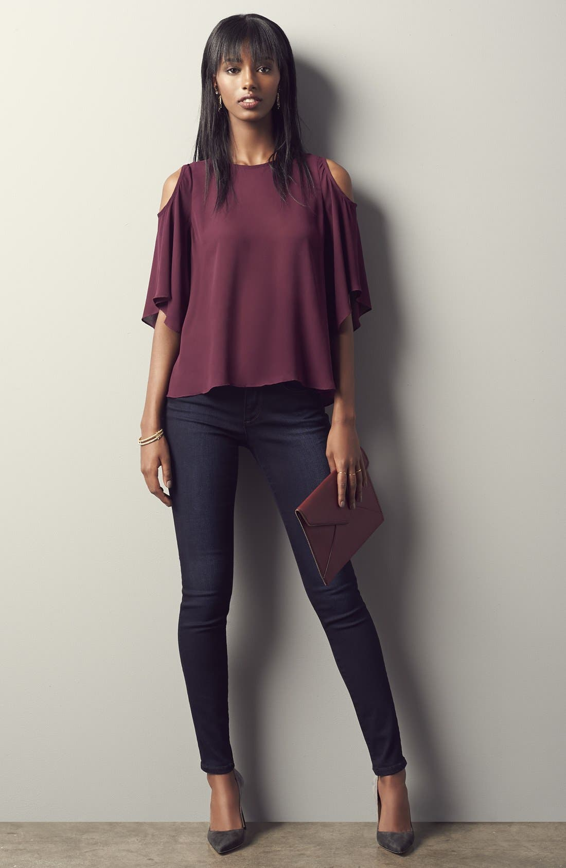 'Flawless - #Hello' Skinny Jeans,                             Alternate thumbnail 6, color,
