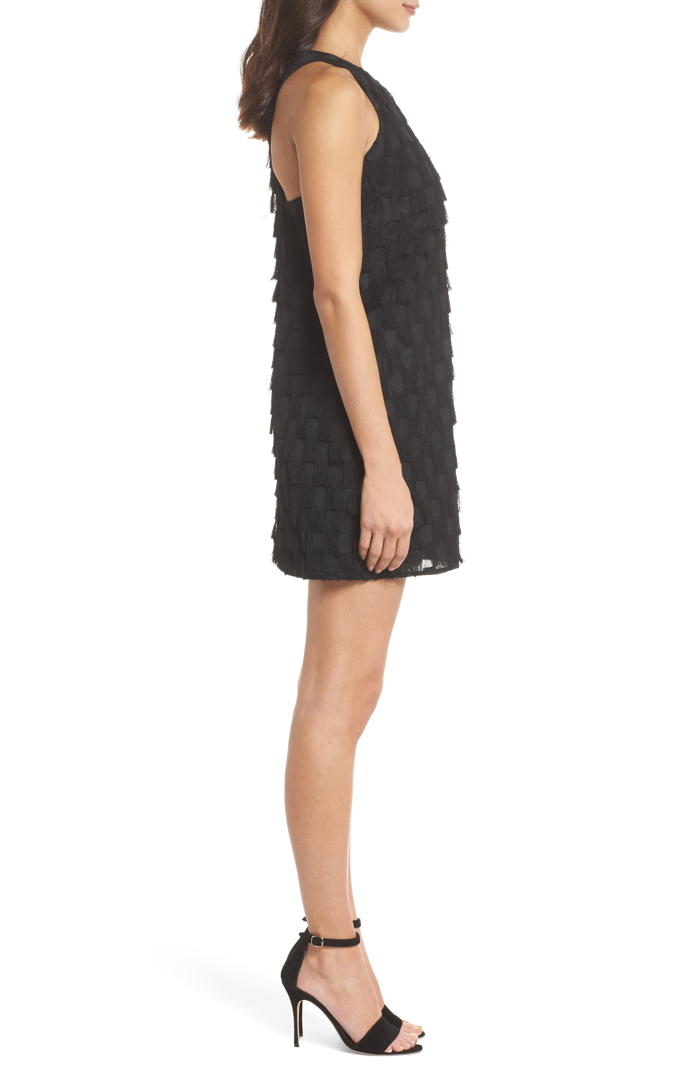 Shake Your Tail Feathers Minidress,                             Alternate thumbnail 3, color,                             001