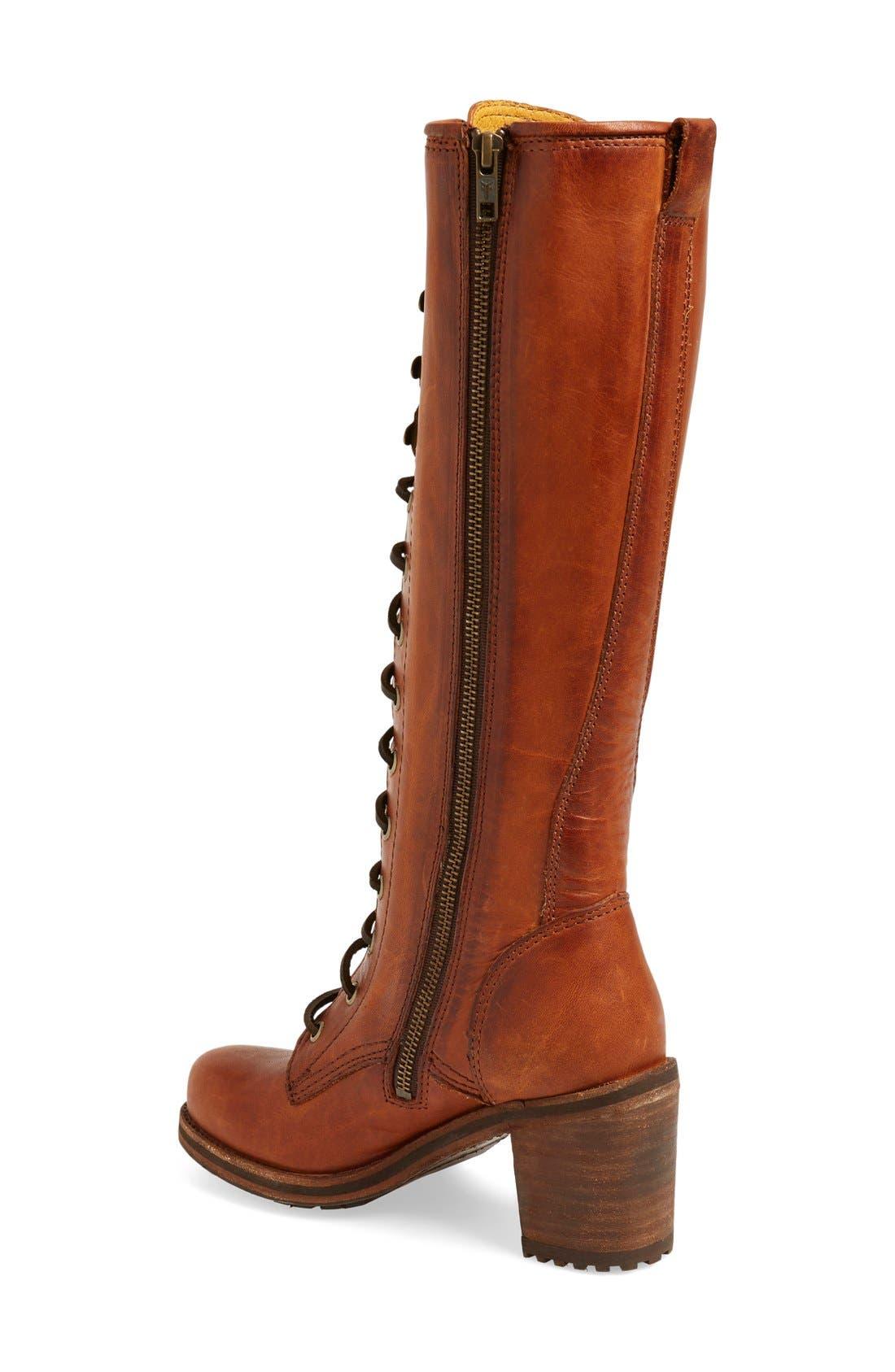 'Karen' Lace Up Tall Boot,                             Alternate thumbnail 3, color,                             235