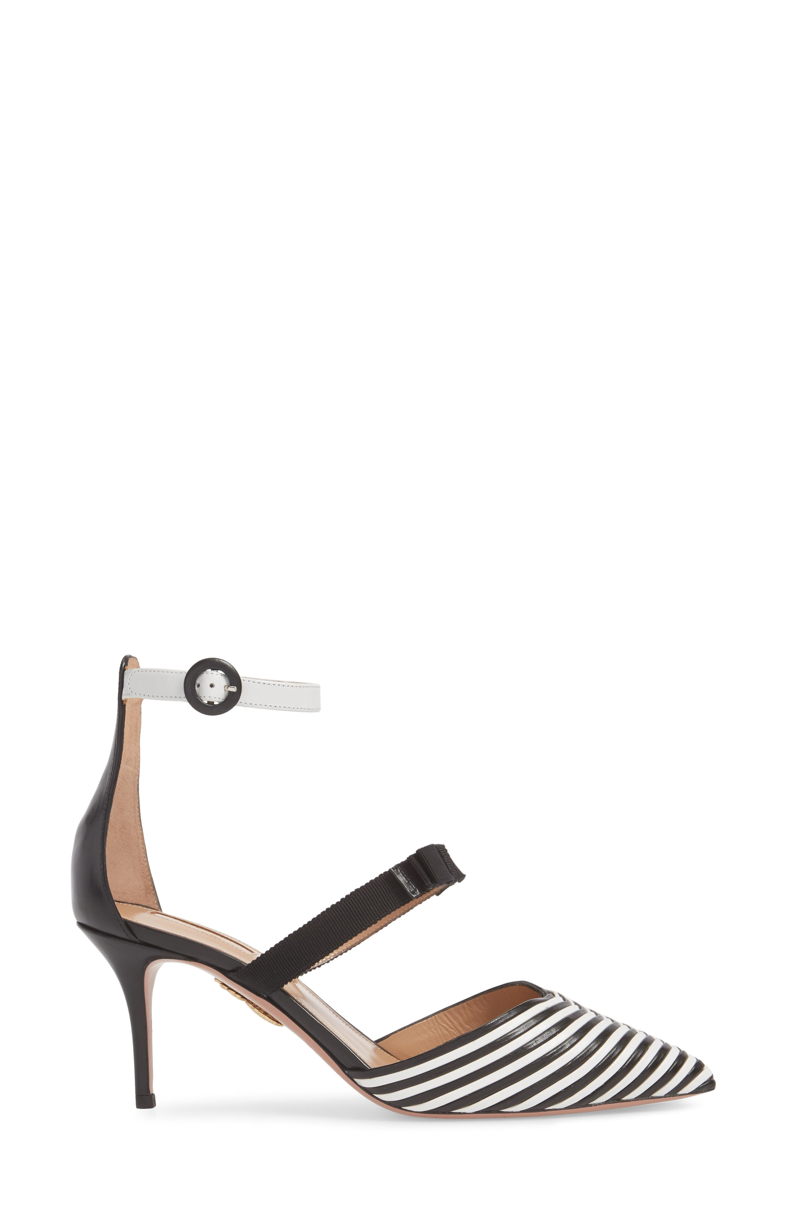 Very Downtown Ankle Strap Pump,                             Alternate thumbnail 3, color,                             001
