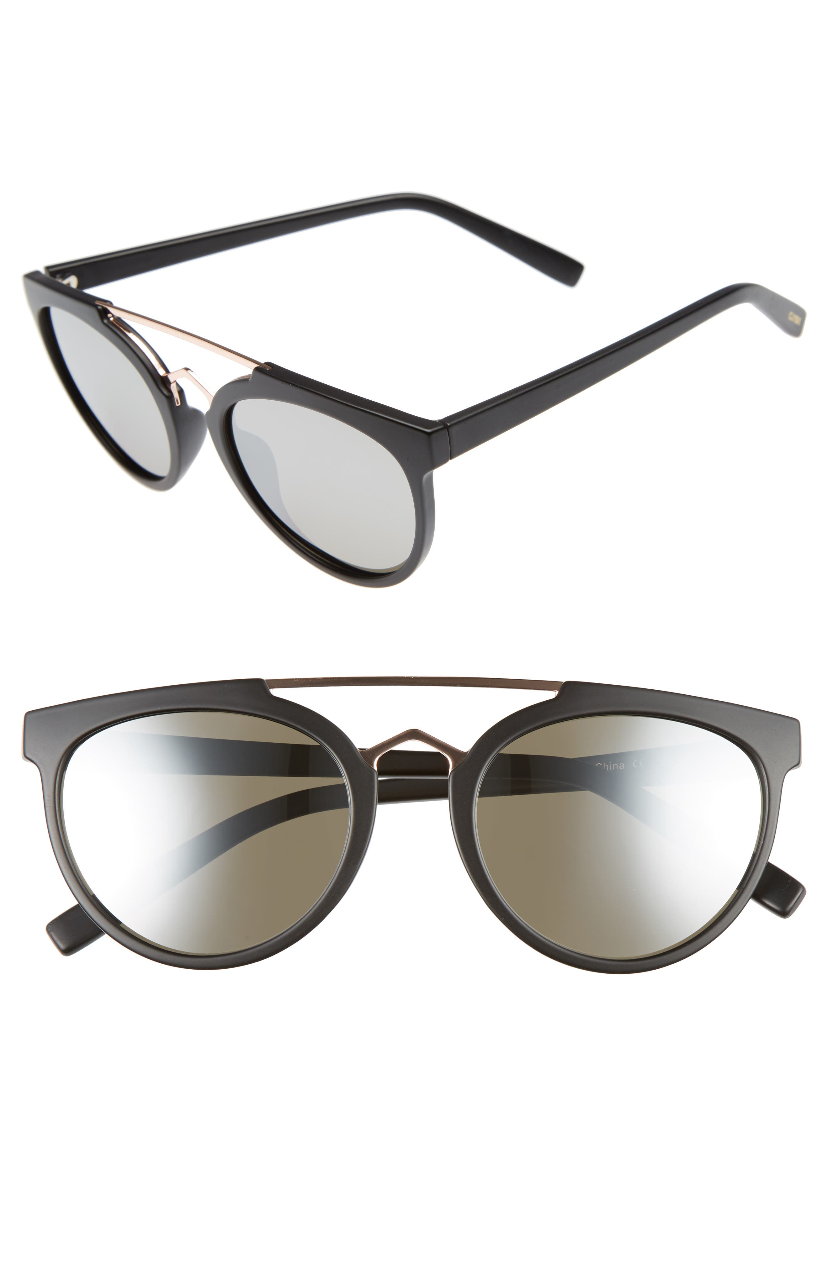 Rose 53mm Retro Sunglasses,                             Main thumbnail 1, color,