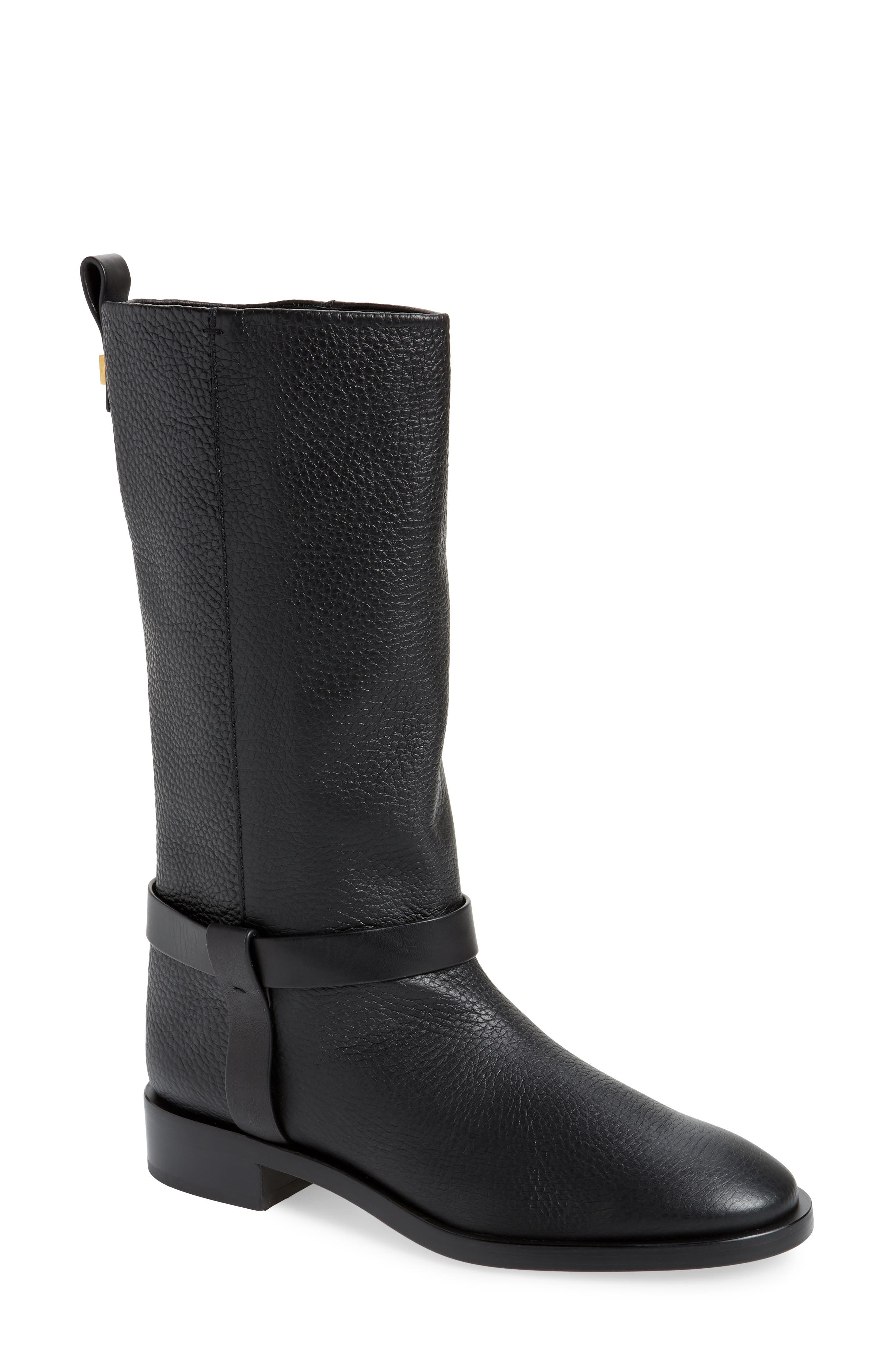 Casey Harness Boot,                             Main thumbnail 1, color,                             PITCH BLACK WESTPORT