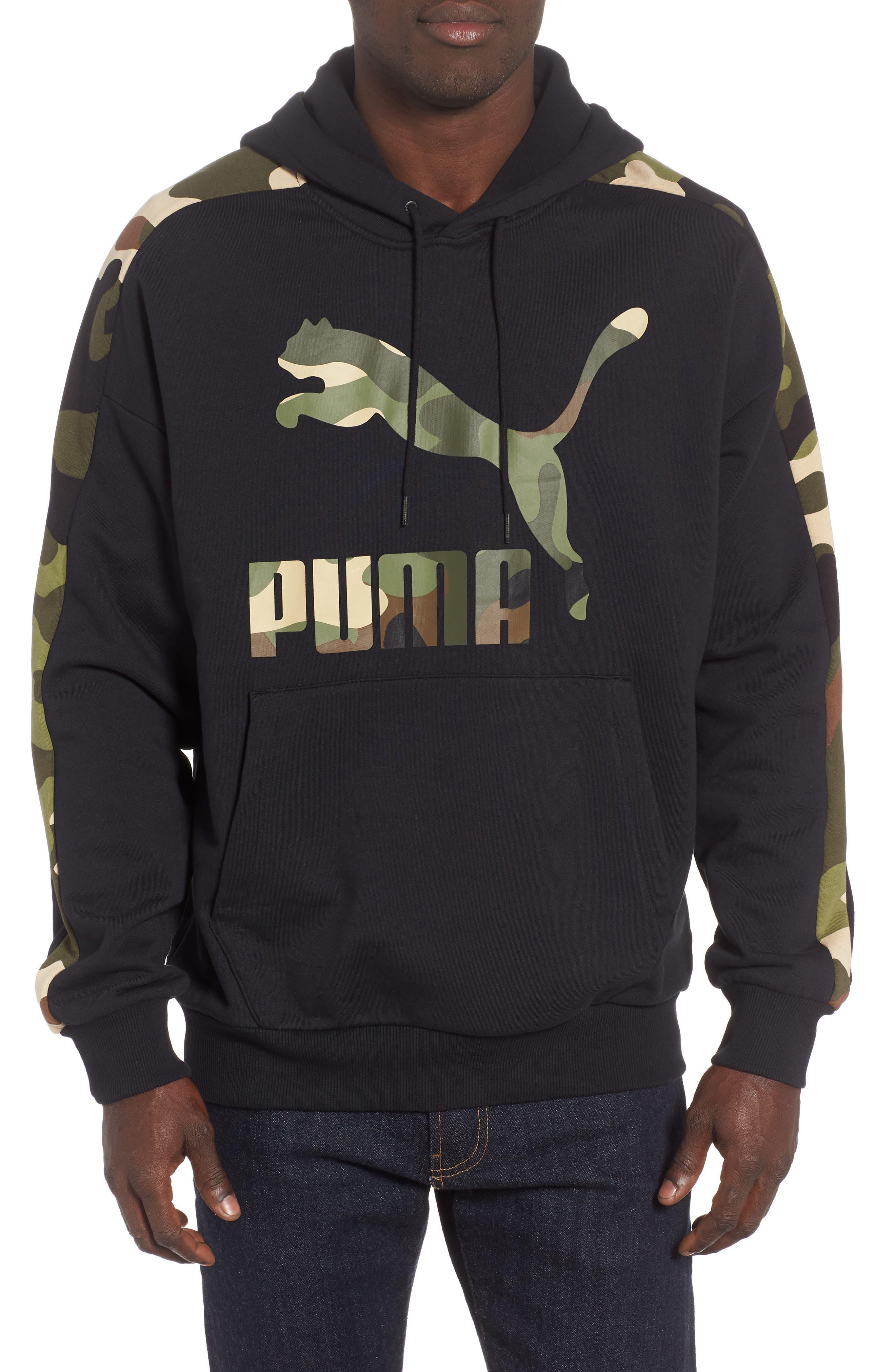 Wild Pack Track Hooded Sweatshirt,                         Main,                         color, PUMA BLACK