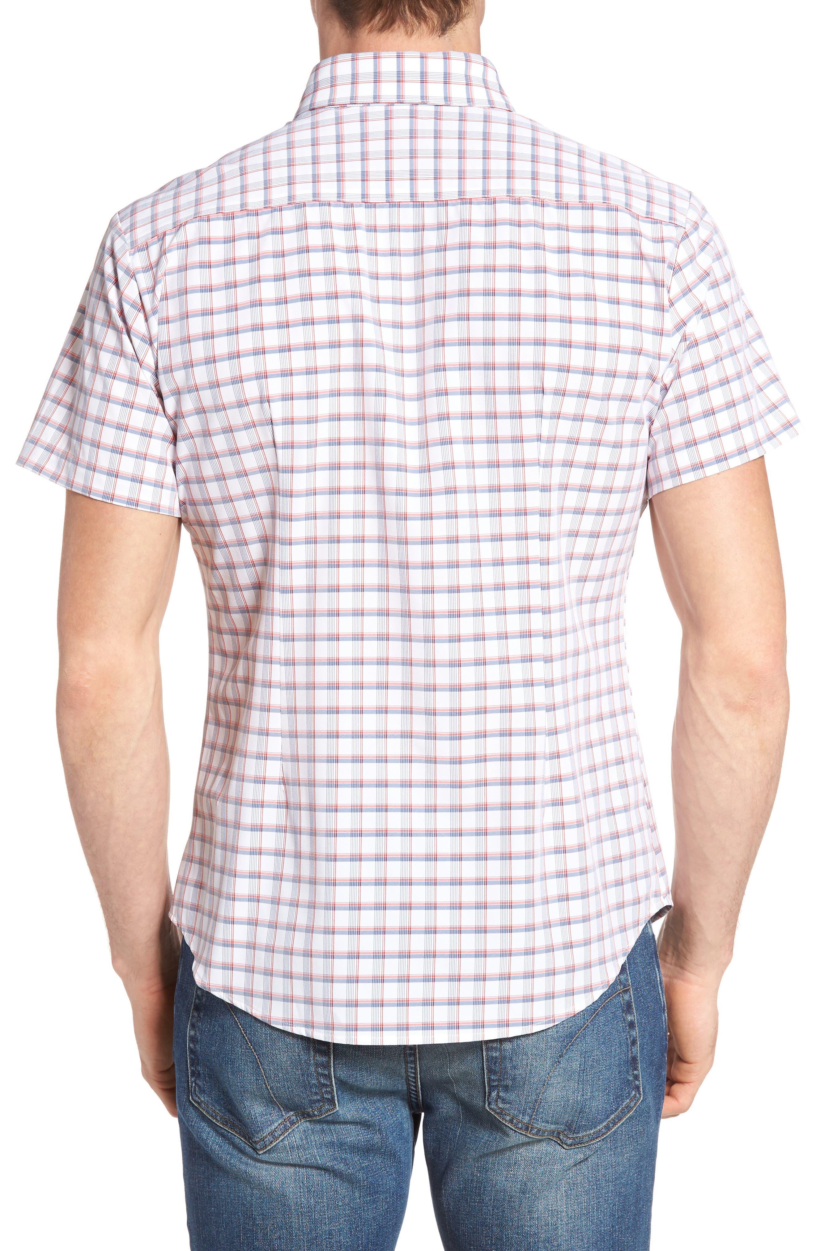 Sanford Slim Fit Plaid Performance Sport Shirt,                             Alternate thumbnail 2, color,                             600