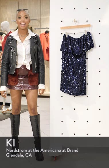 Sequin One-Shoulder Minidress, sales video thumbnail