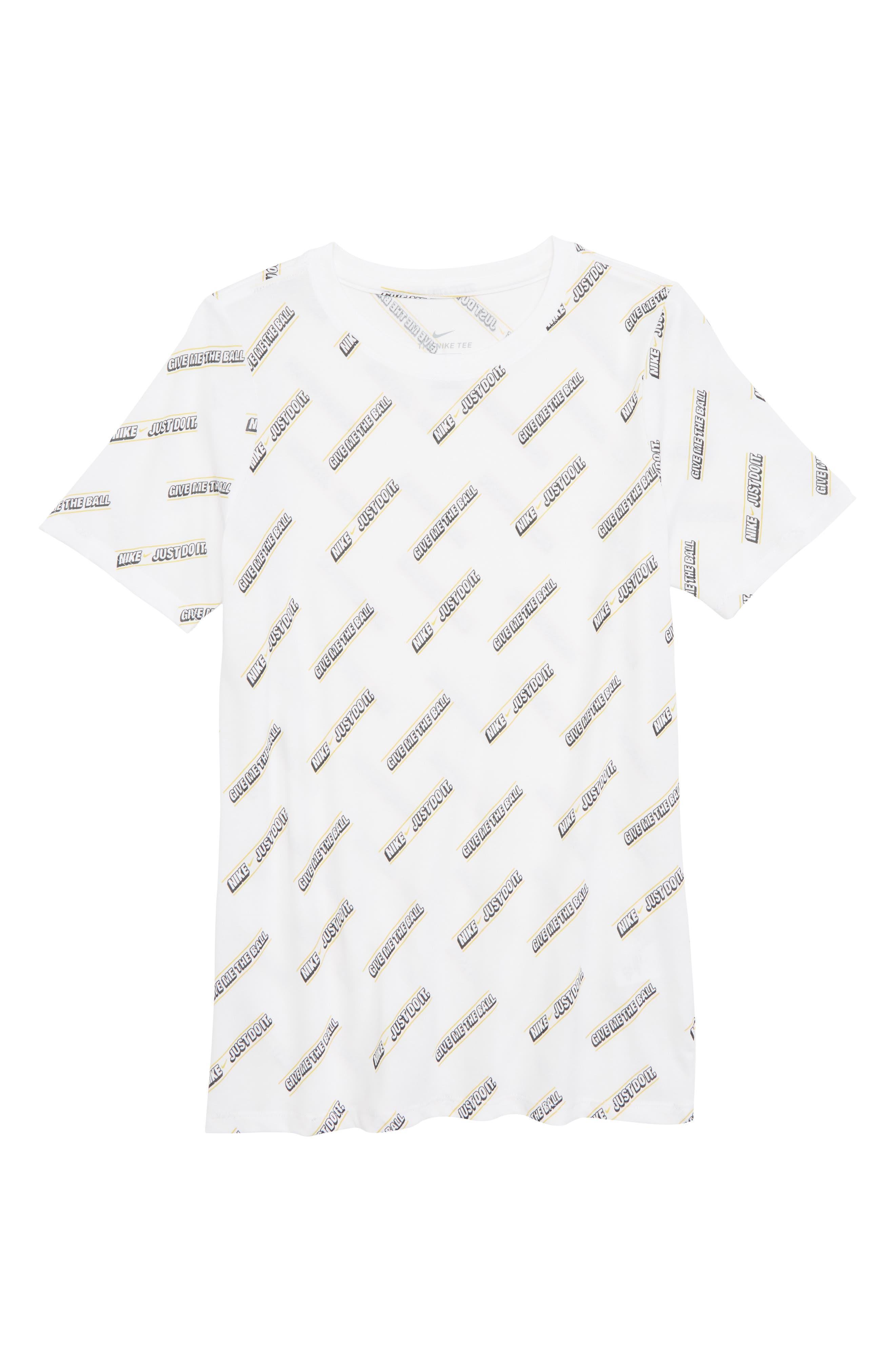 Dry Give Me the Ball Print T-Shirt,                             Main thumbnail 1, color,                             WHITE
