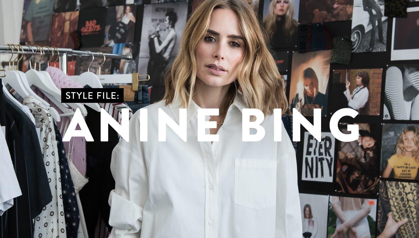 Womenswear designer Anine Bing.