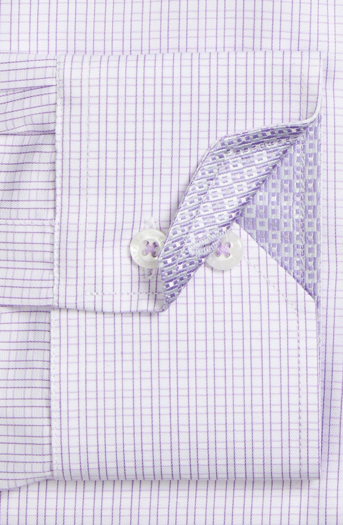 Trim Fit Check Dress Shirt,                             Alternate thumbnail 2, color,                             530
