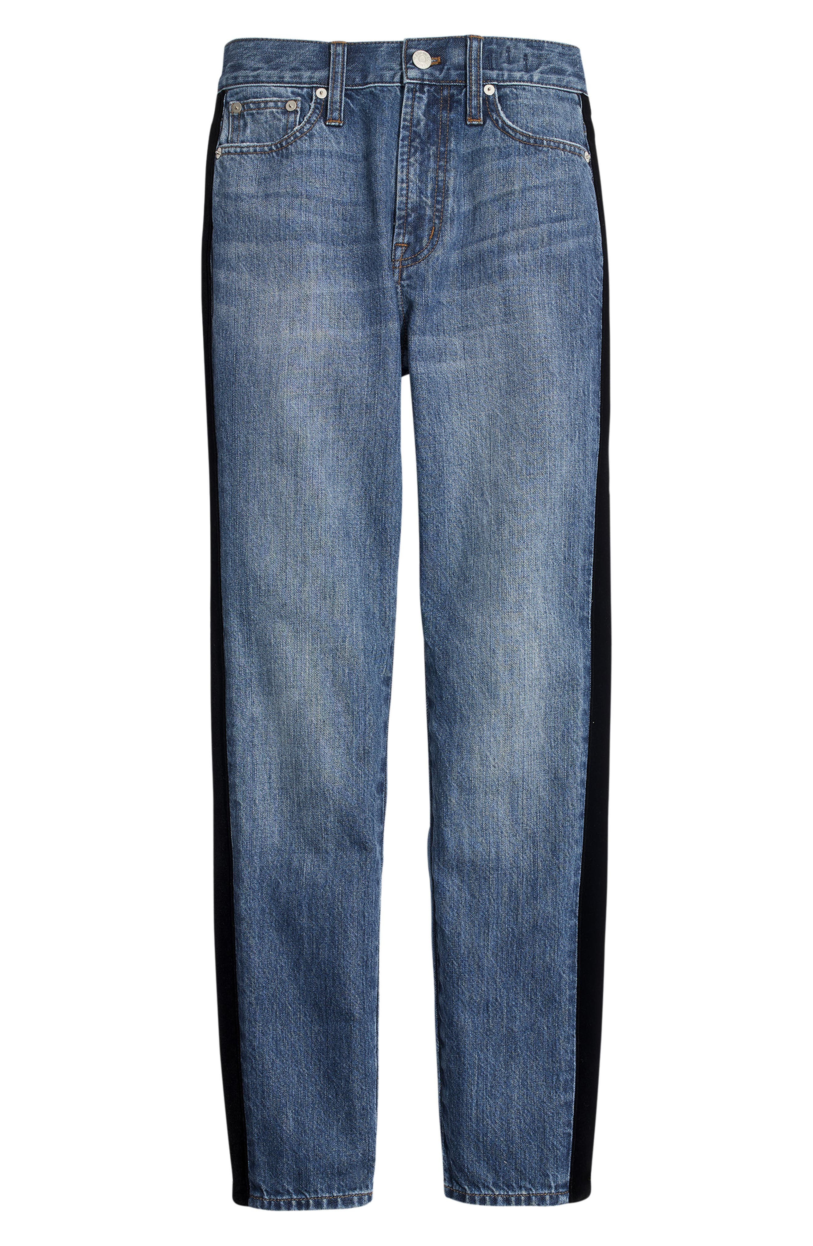 The Perfect Vintage Velvet Tux Stripe Jeans,                             Alternate thumbnail 6, color,                             BANBURY WASH
