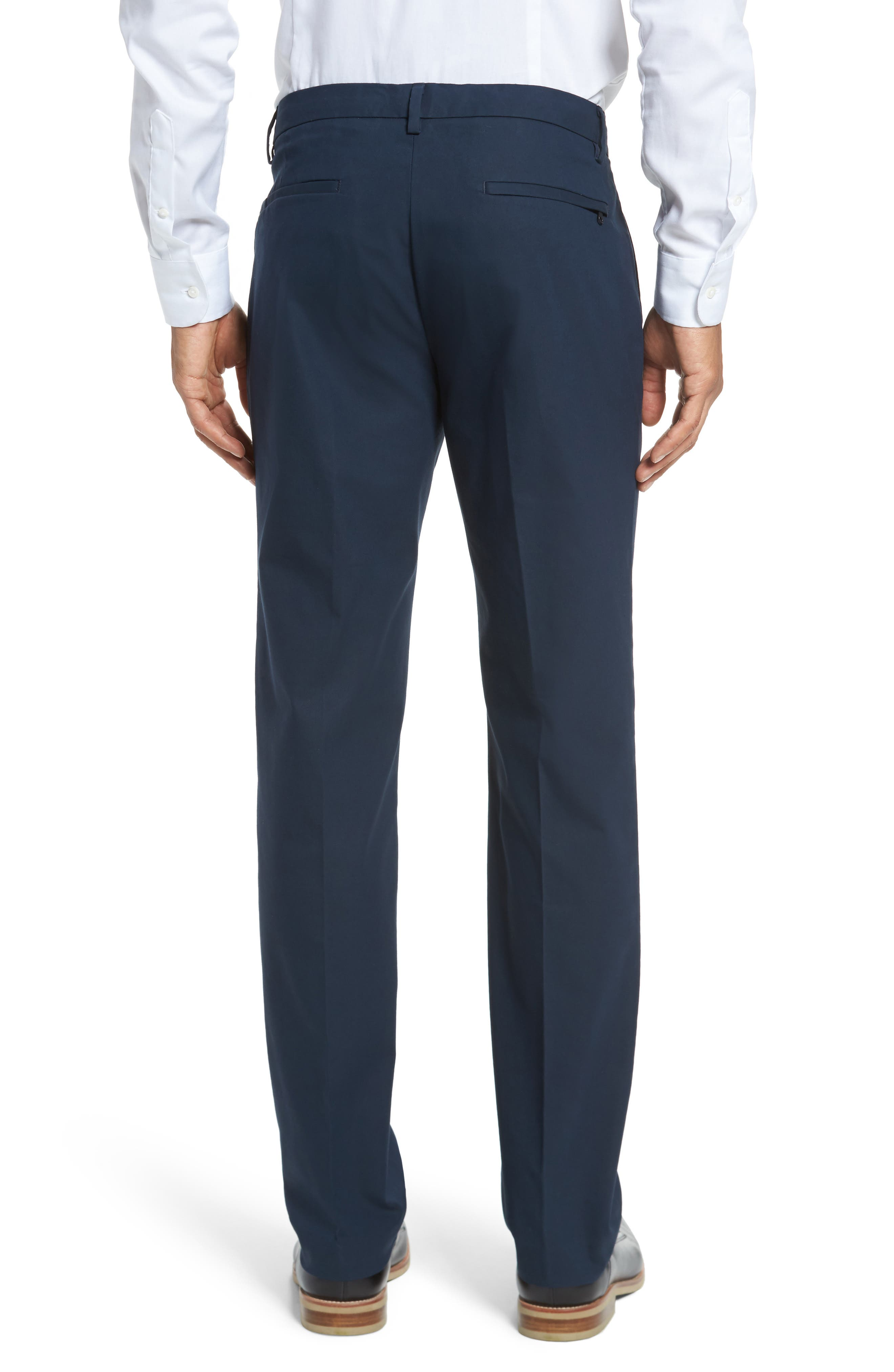 Slim Fit Tech Chinos,                             Alternate thumbnail 2, color,                             NEW NAVY