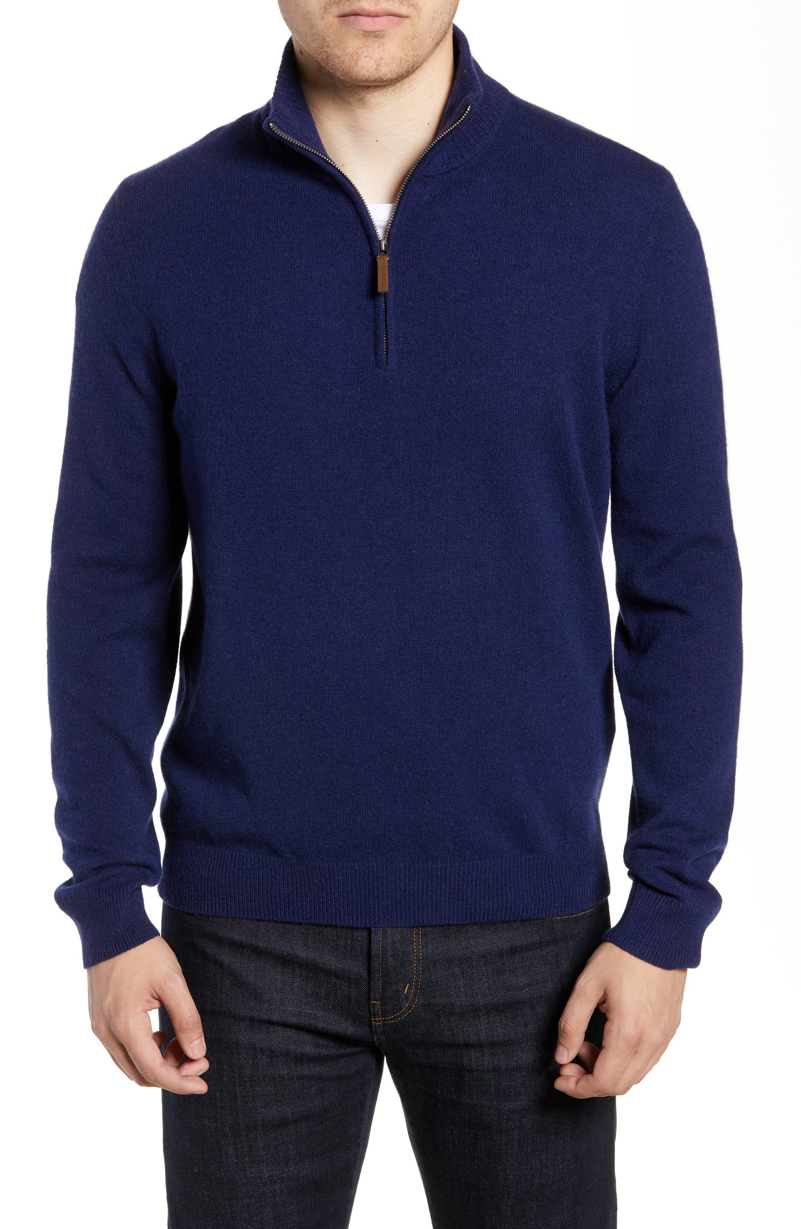 Cashmere Quarter Zip Sweater,                         Main,                         color, 410
