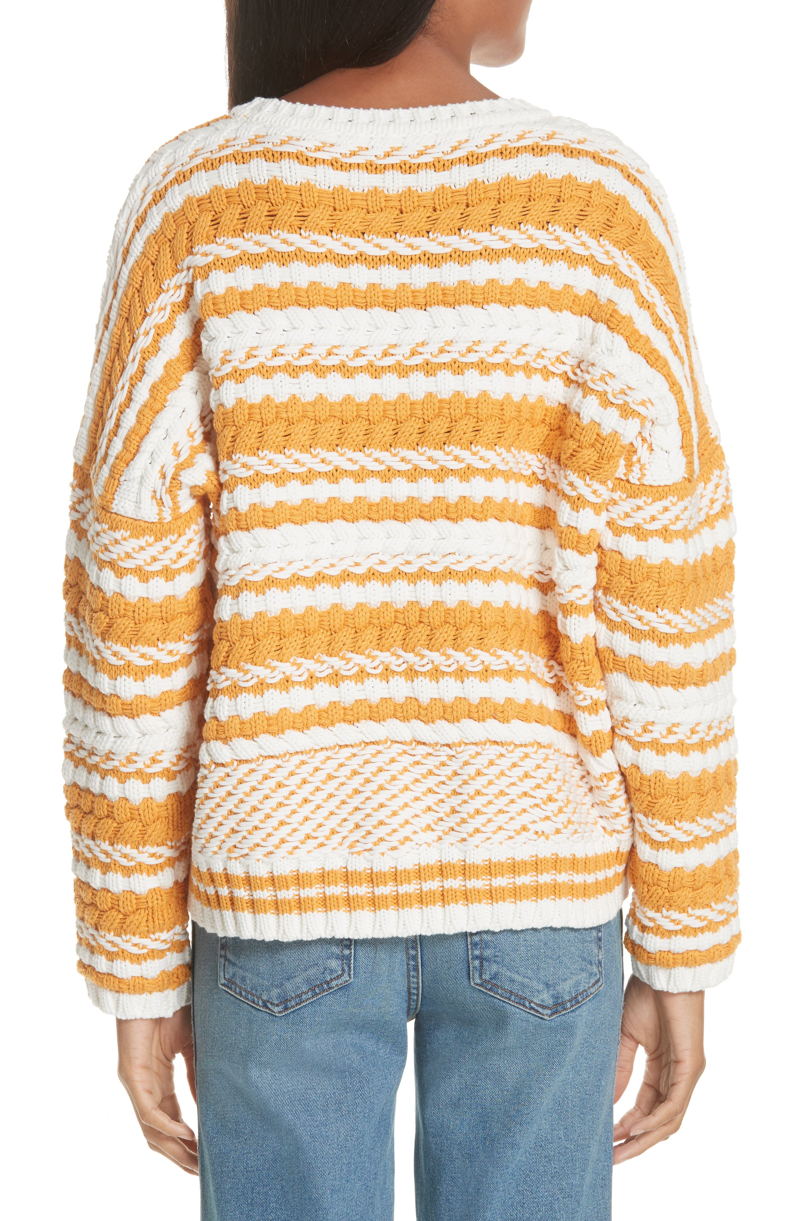 Modeste Chunky Stripe Sweater,                             Alternate thumbnail 2, color,                             800