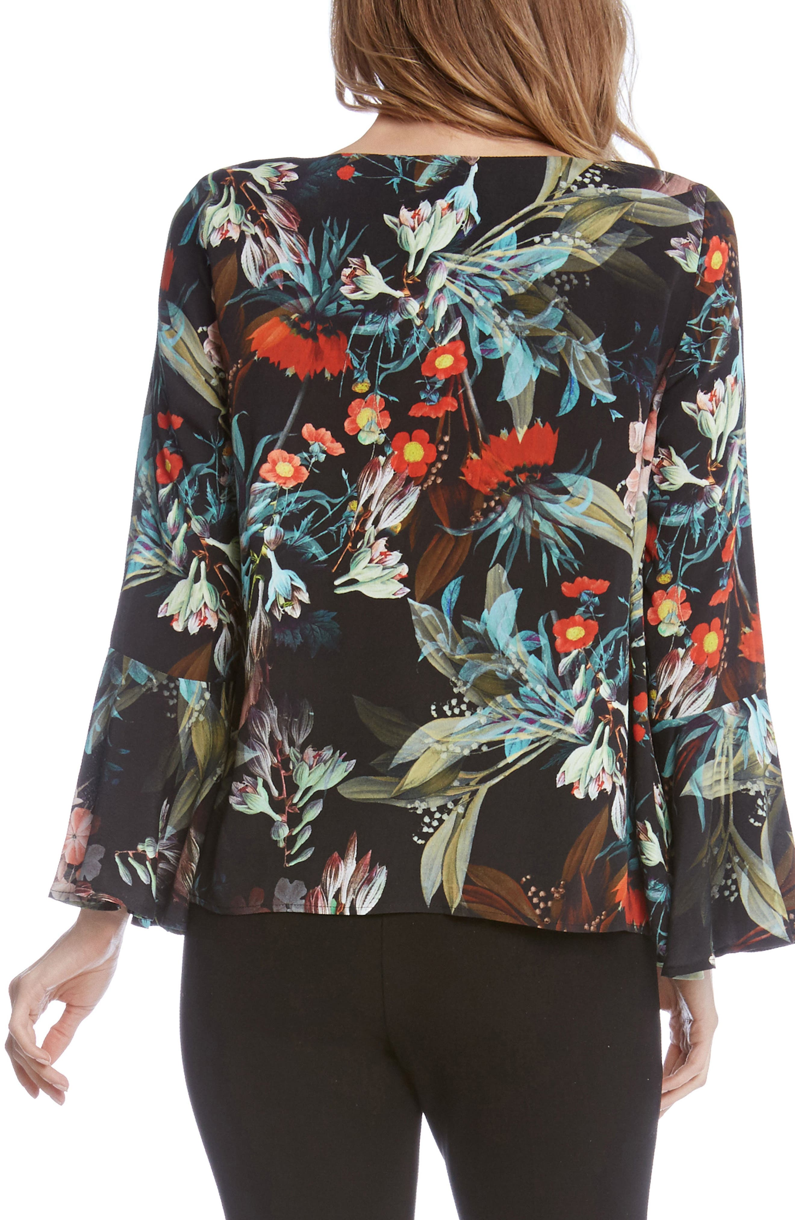 Bell Sleeve Top,                             Alternate thumbnail 2, color,