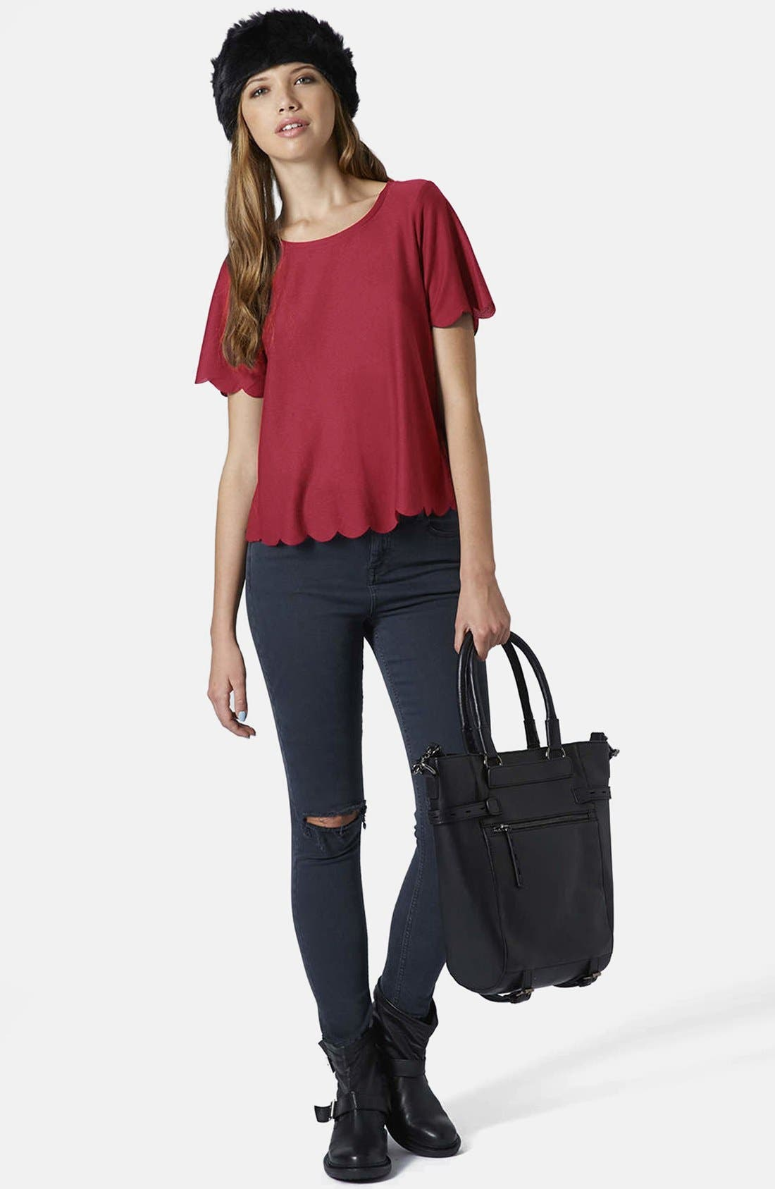 Scallop Frill Tee,                             Alternate thumbnail 17, color,