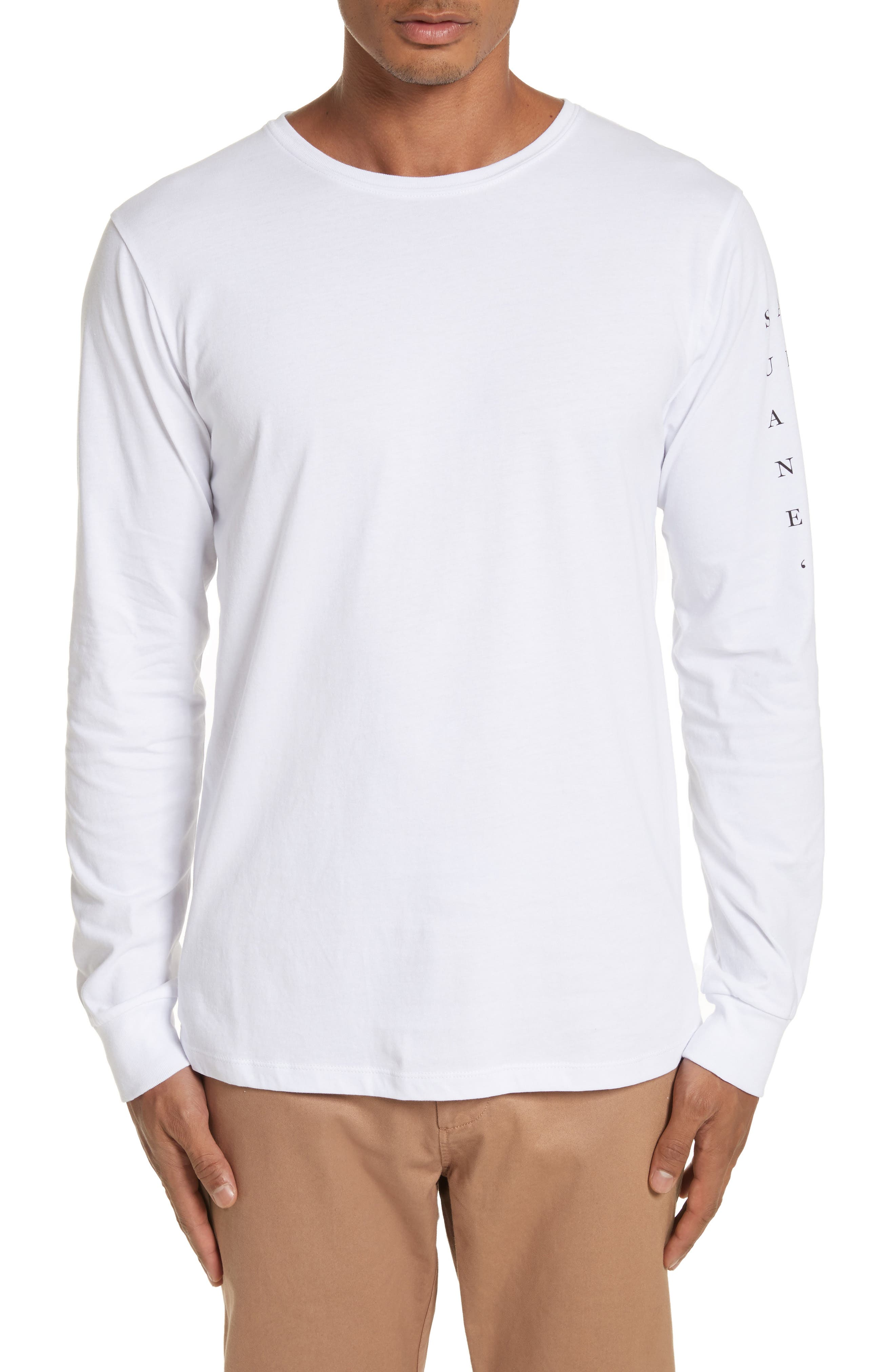 Stacked Logo Graphic Long Sleeve T-Shirt,                         Main,                         color, 110