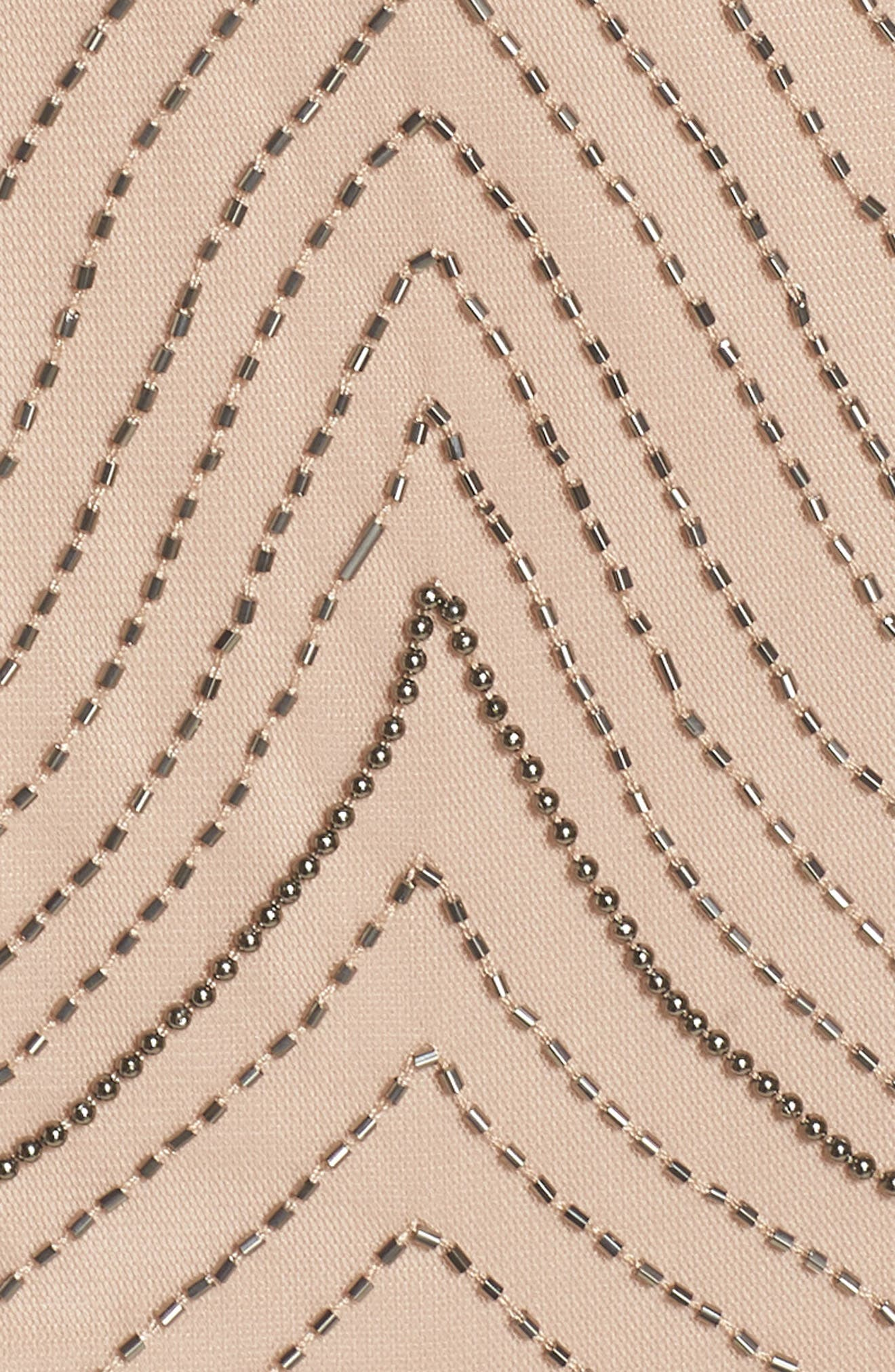 Beaded Halter Gown,                             Alternate thumbnail 6, color,                             655