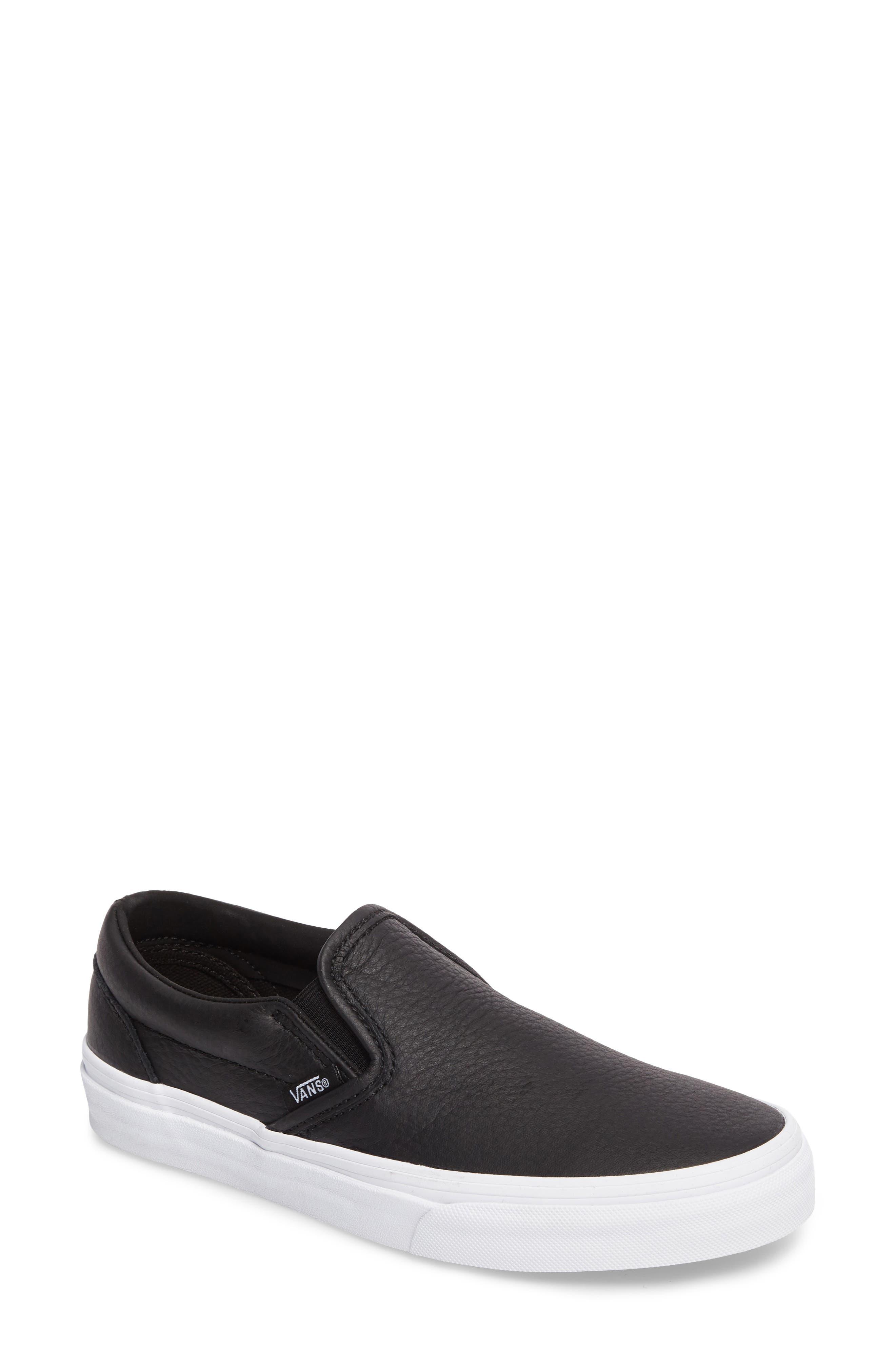Classic Slip-On Sneaker,                         Main,                         color, BLACK/ TRUE WHITE