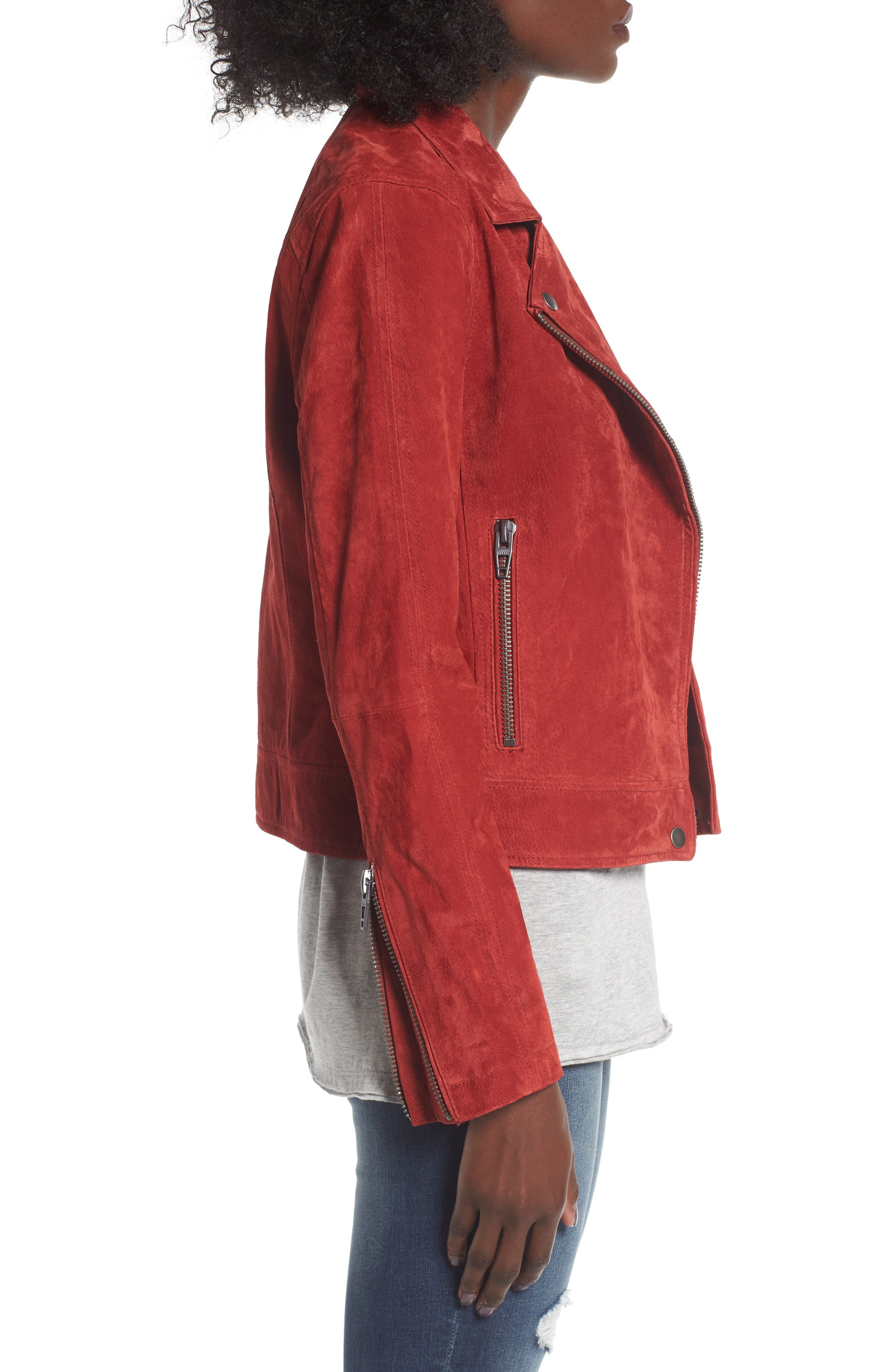 Suede Moto Jacket,                             Alternate thumbnail 26, color,