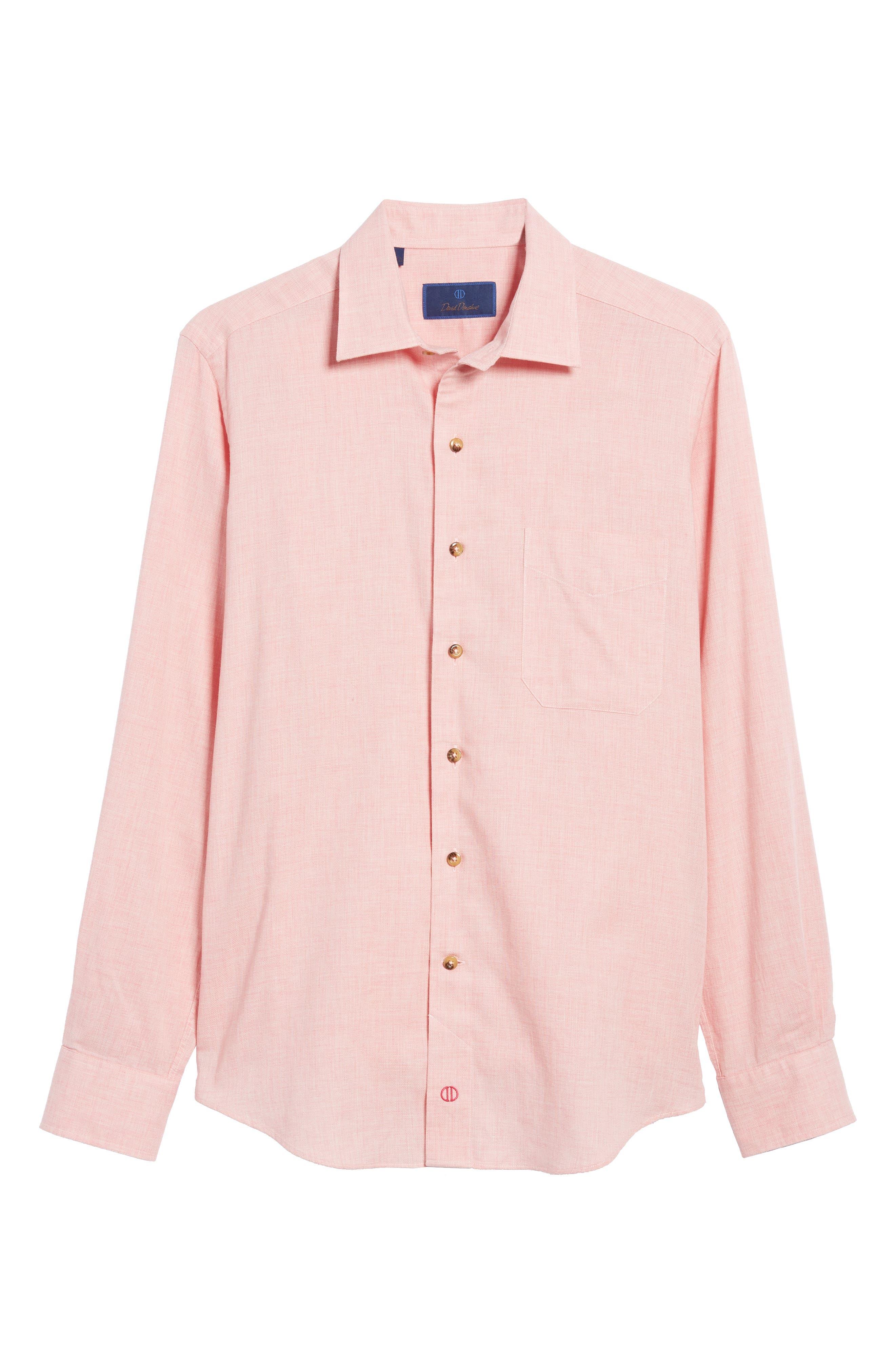 Regular Fit Garment Washed Mélange Sport Shirt,                             Alternate thumbnail 6, color,                             650